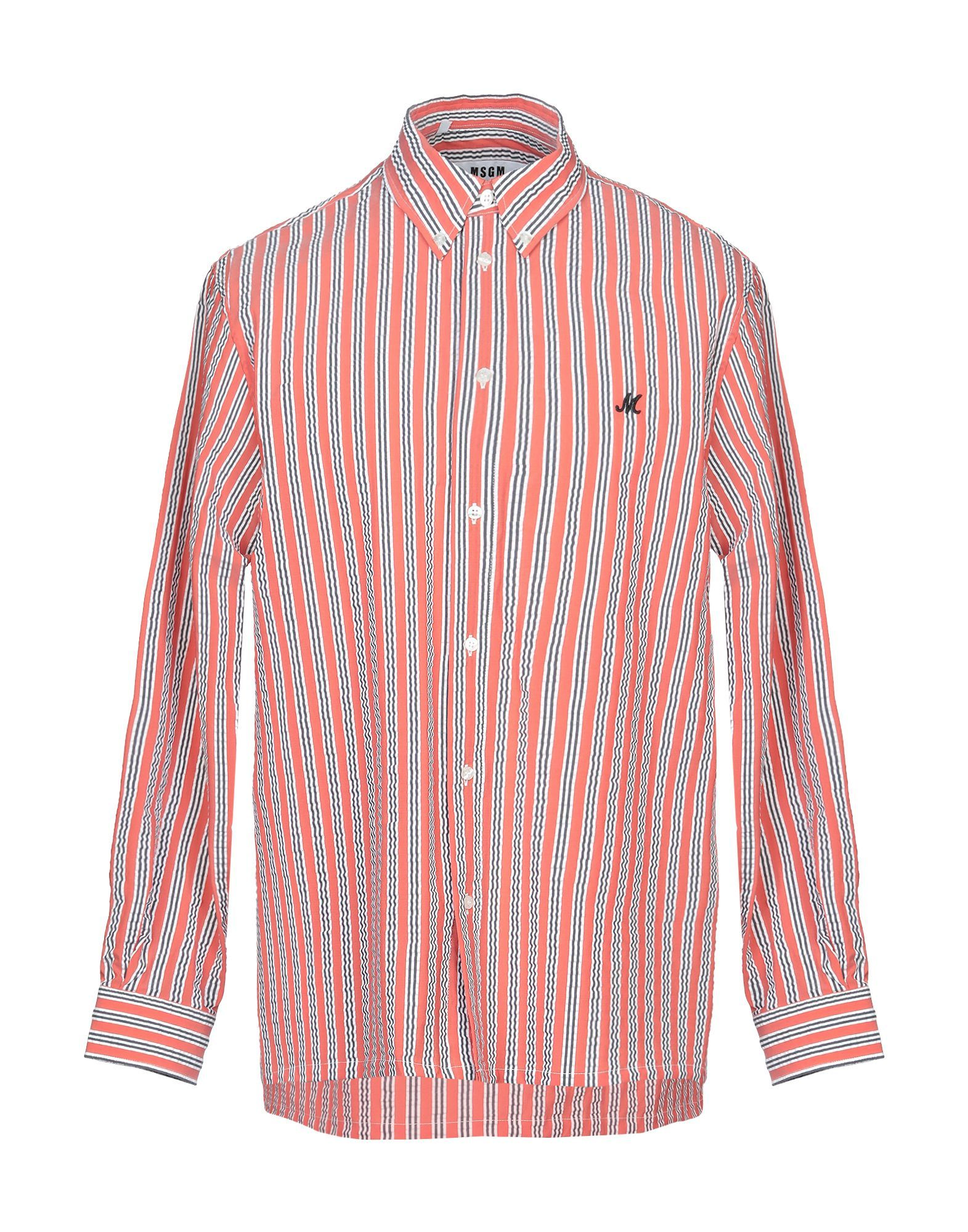 MSGM Rust Stripe Shirt