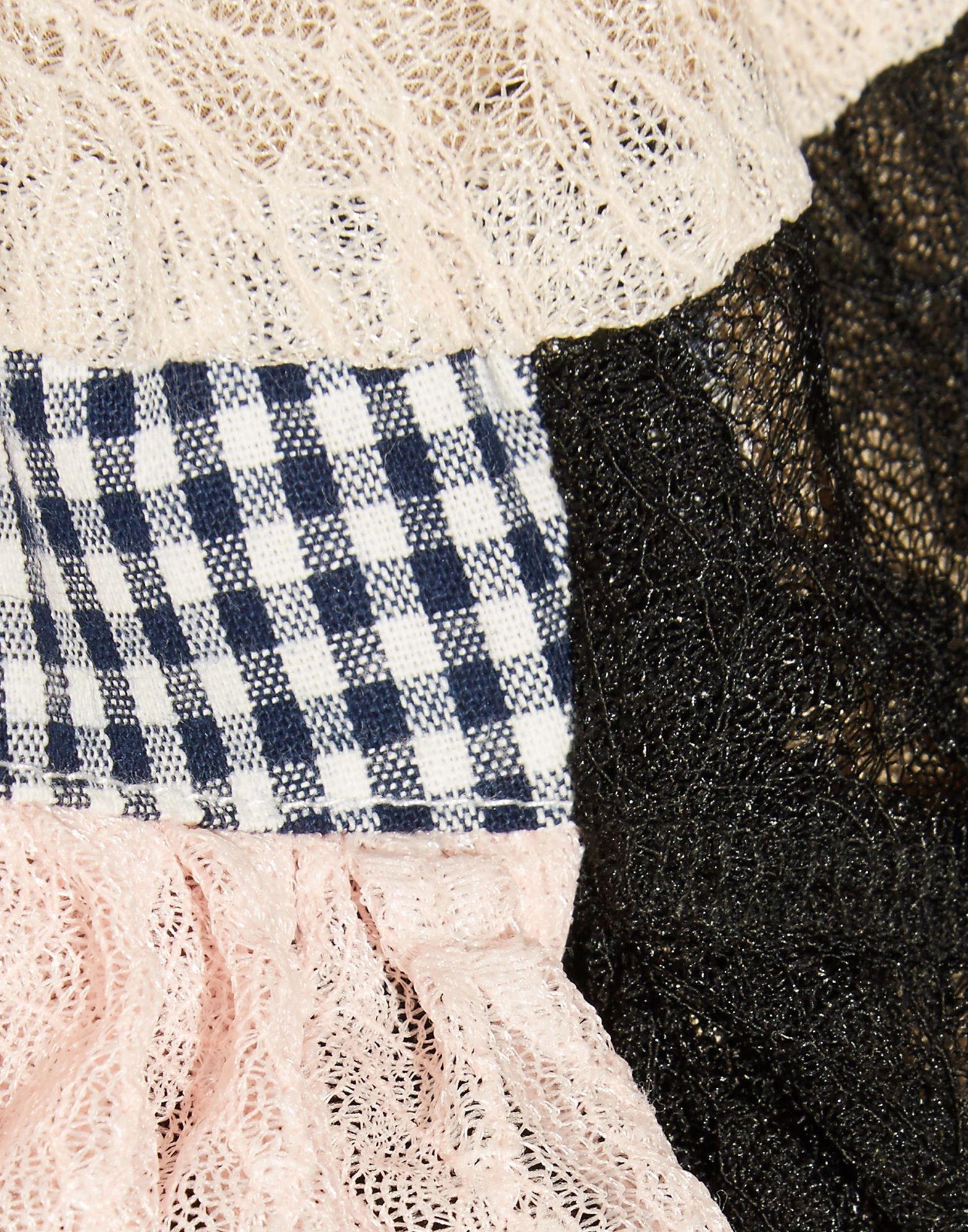 Sandy Liang Black Cotton Lace Blouse