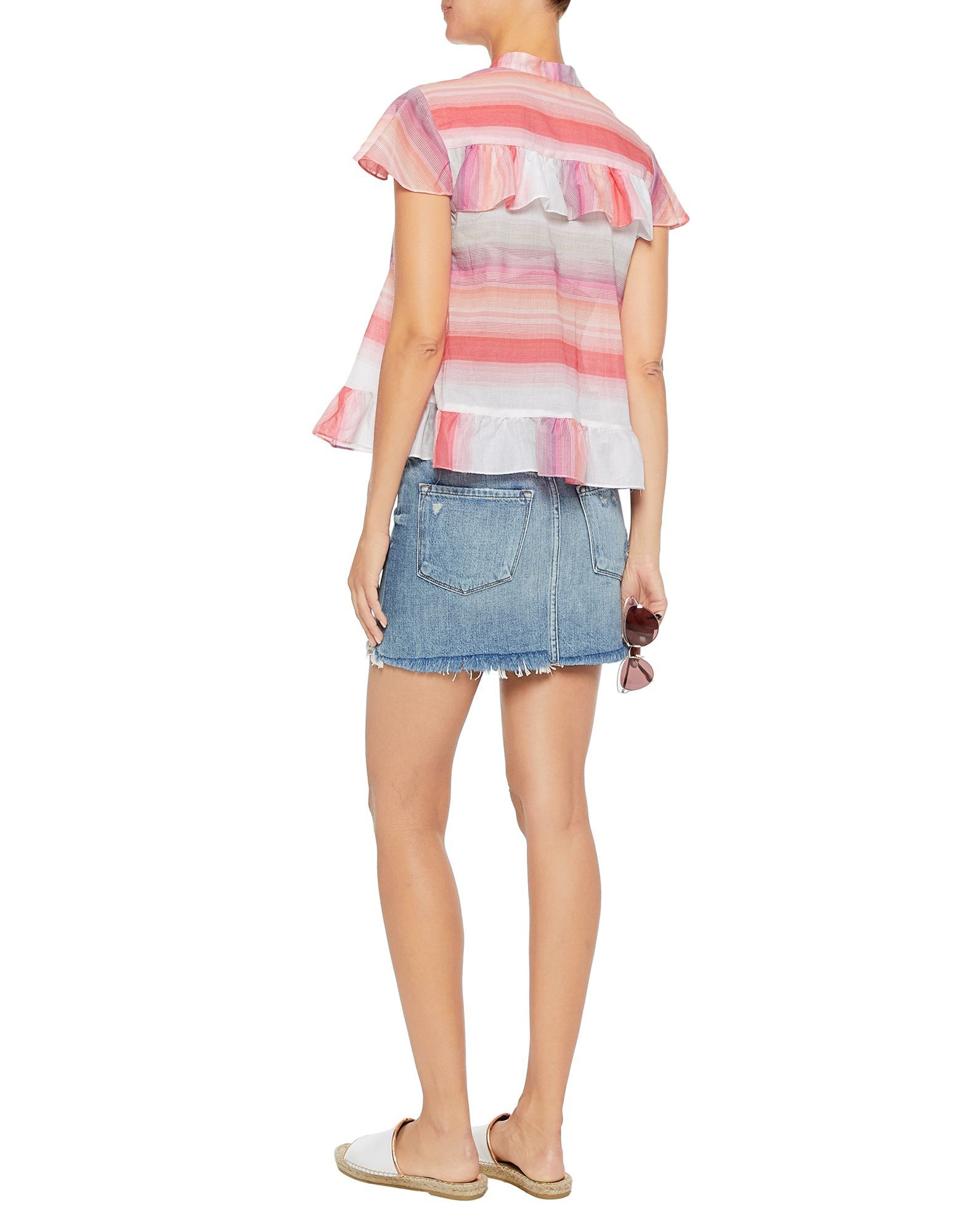 Lemlem Coral Stripe Cotton Shirt