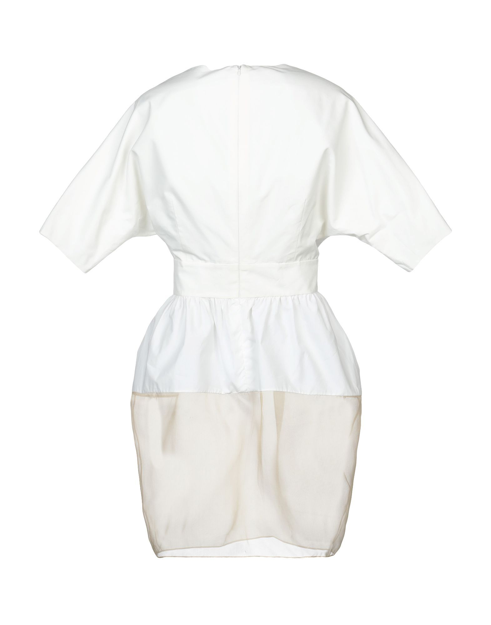 Giamba White Organza Short Sleeve Shirt