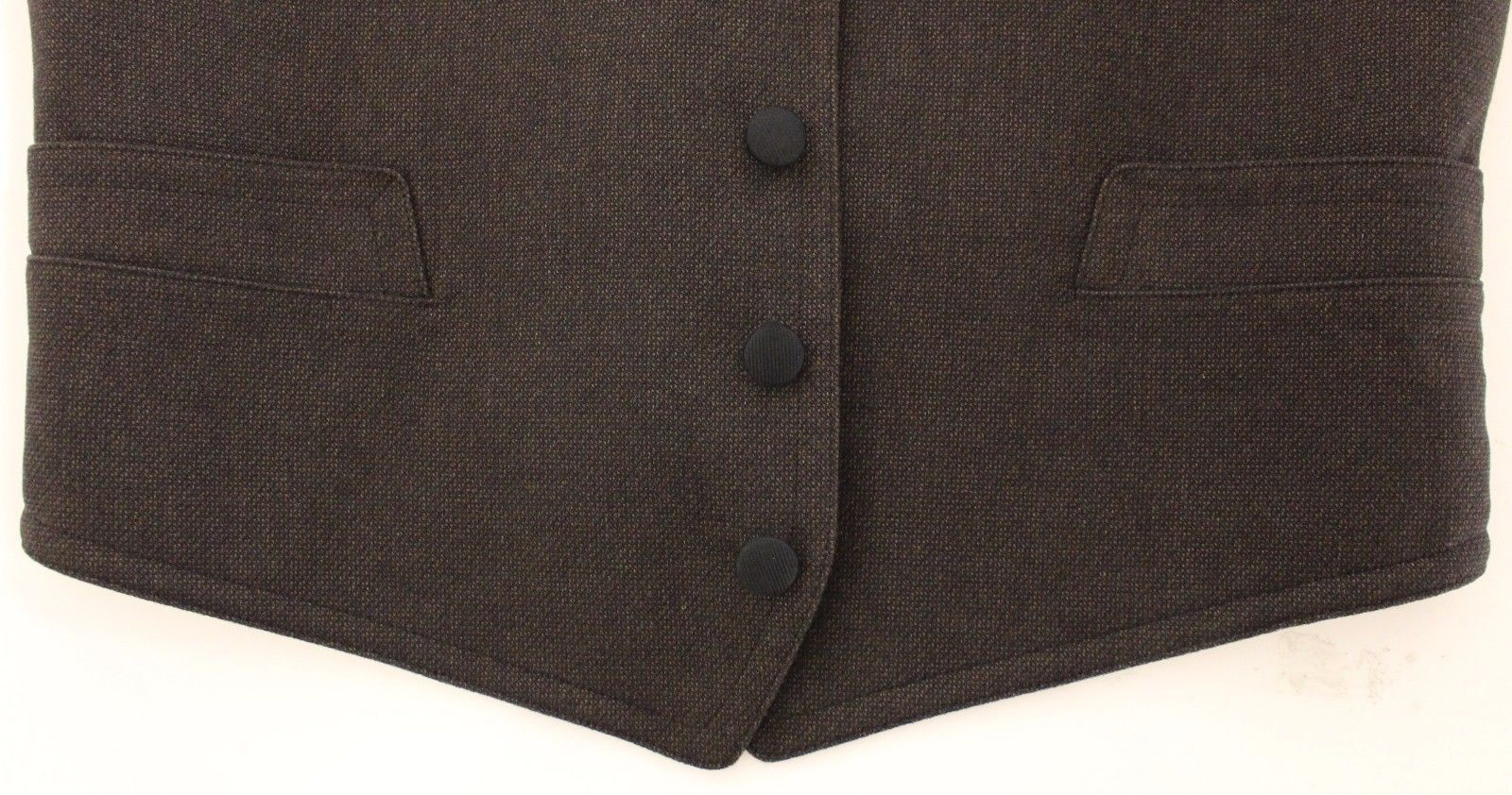 Dolce & Gabbana Brown Cotton Blend Dress Vest Gilet