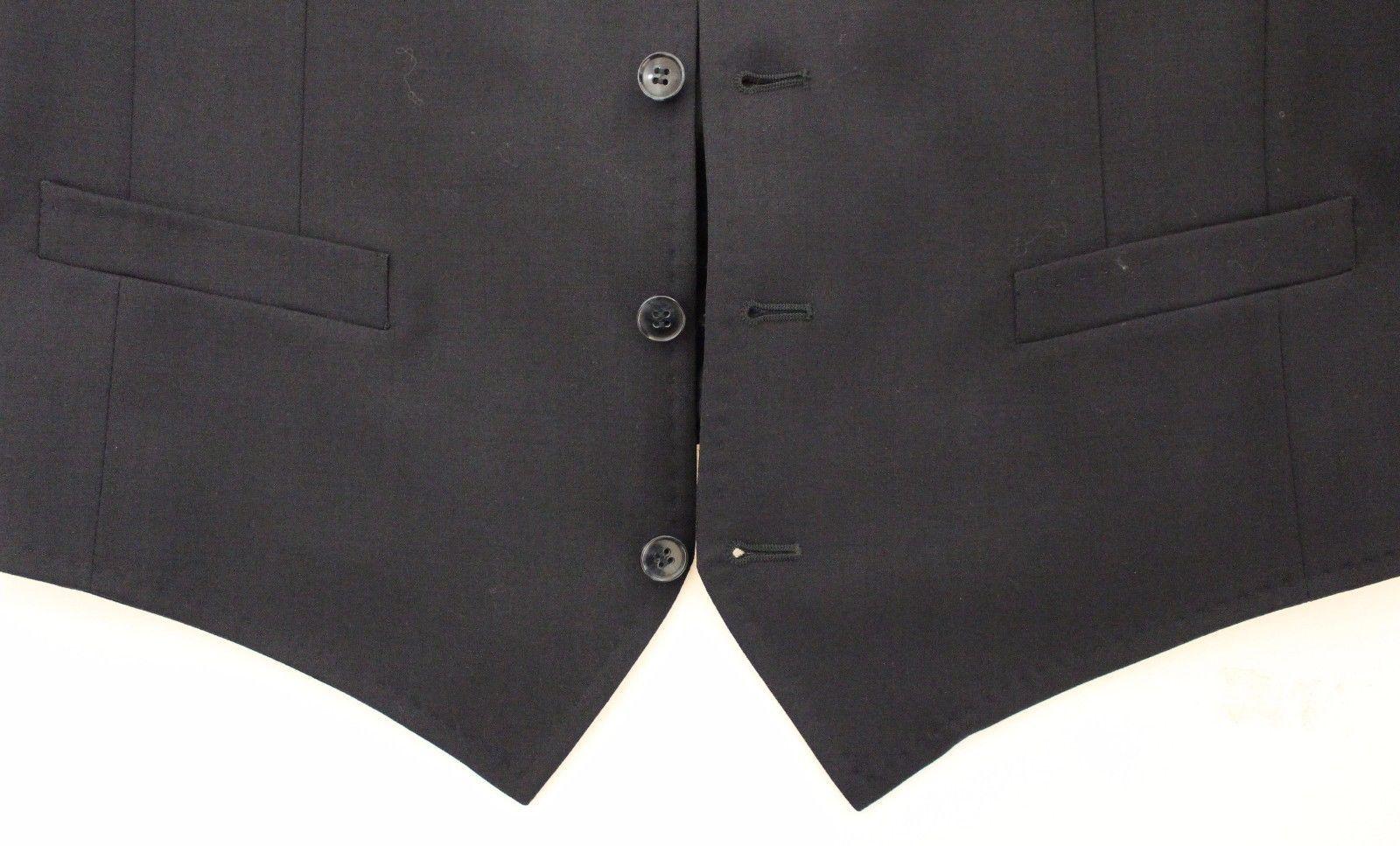 Dolce & Gabbana Blue Cotton Stretch Dress Vest Blazer