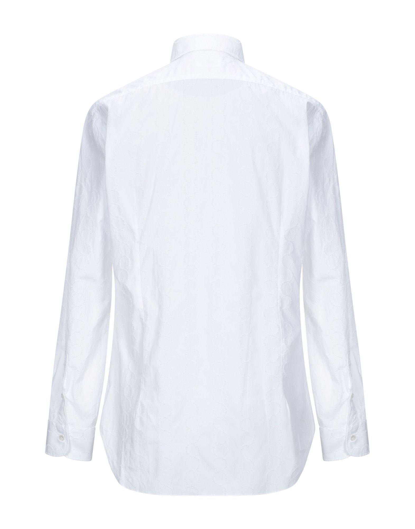 SHIRTS Barba Napoli White Man Cotton