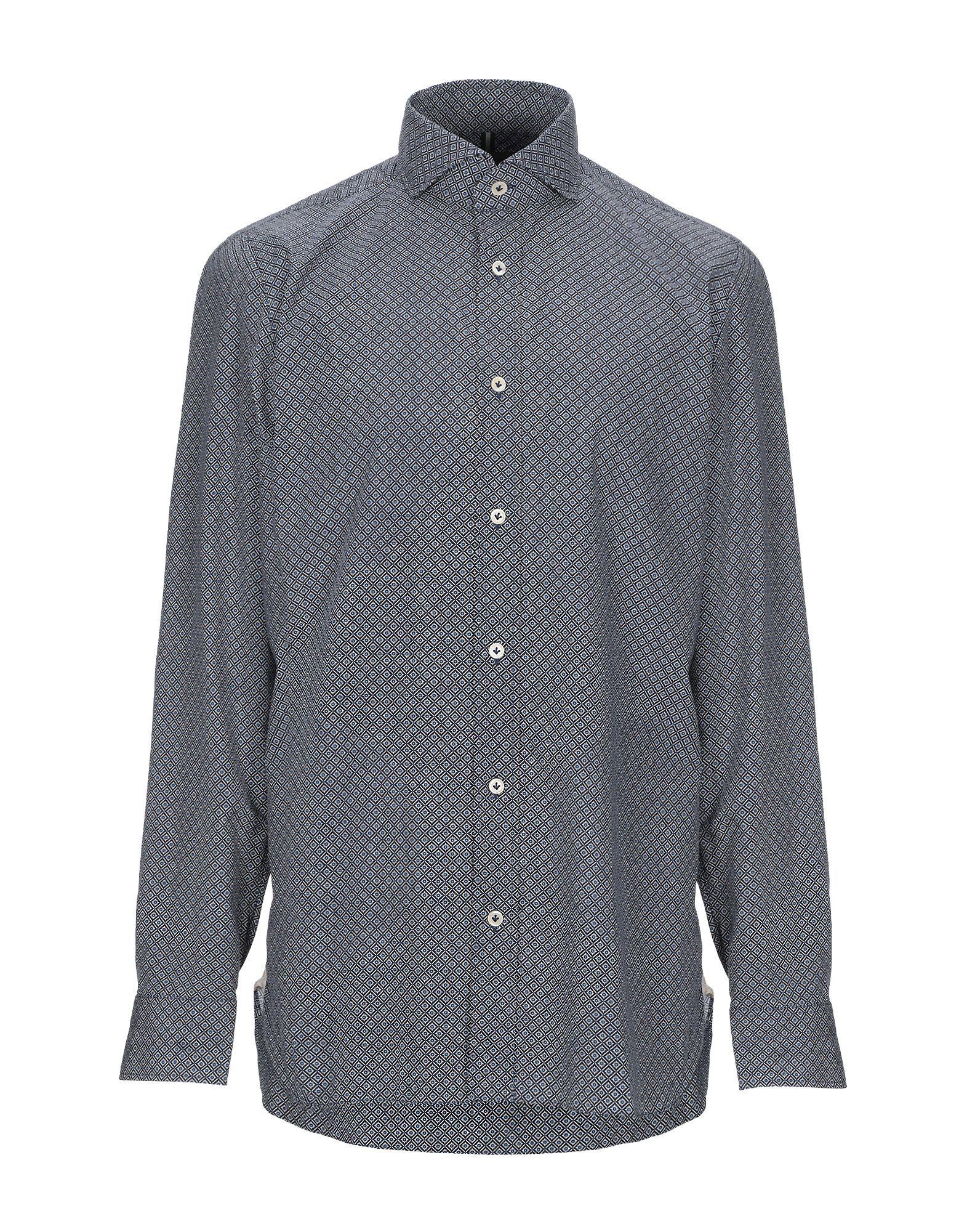 Luigi Borrelli Napoli Blue Cotton Shirt