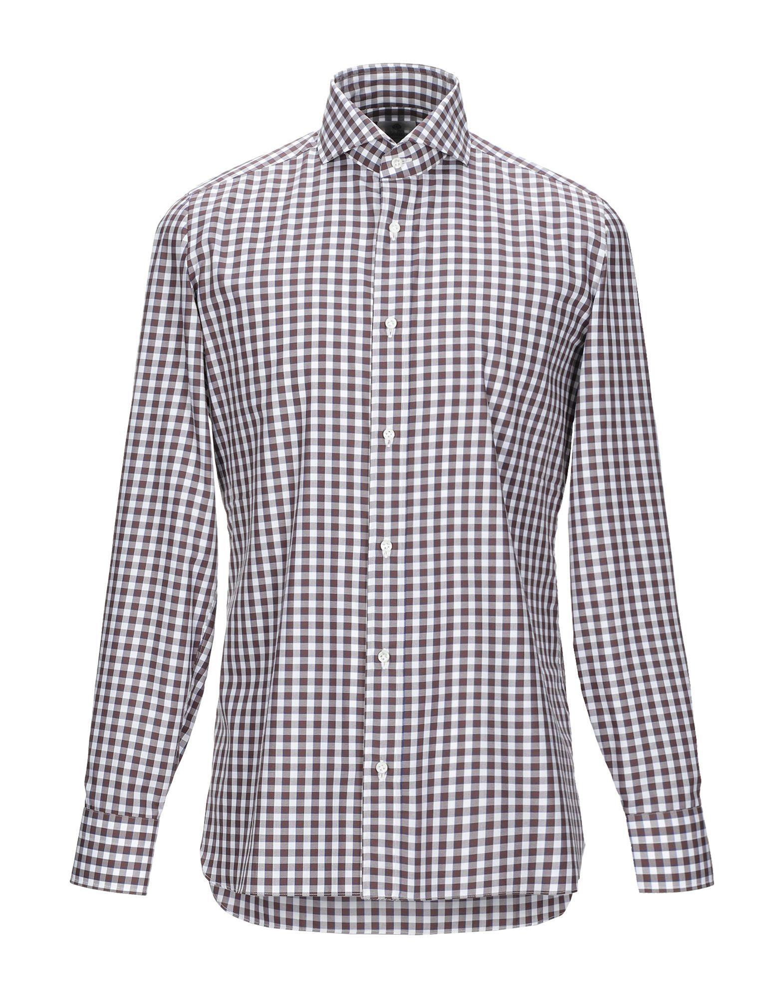 Luigi Borrelli Napoli Cocoa Check Cotton Shirt
