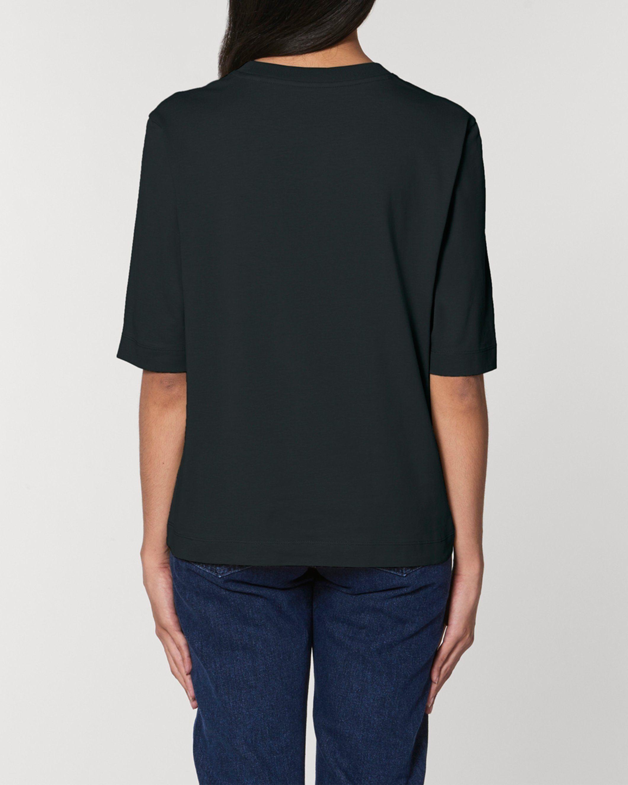Bandham Women's Boxy Heavy T-Shirt in Black