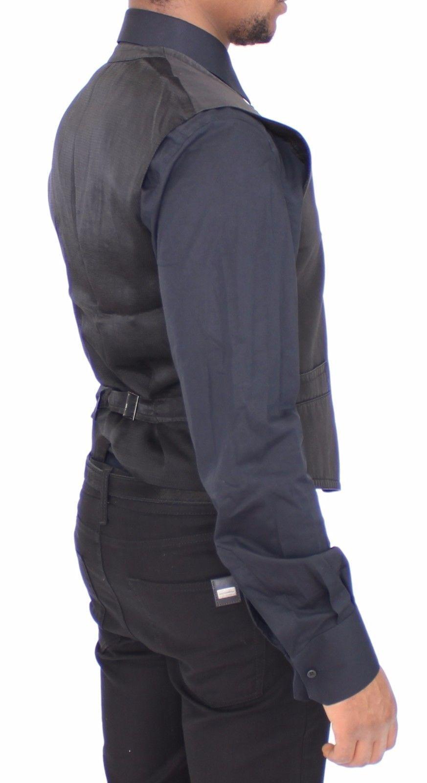 Dolce & Gabbana Black Cotton Blend Dress Vest Gilet
