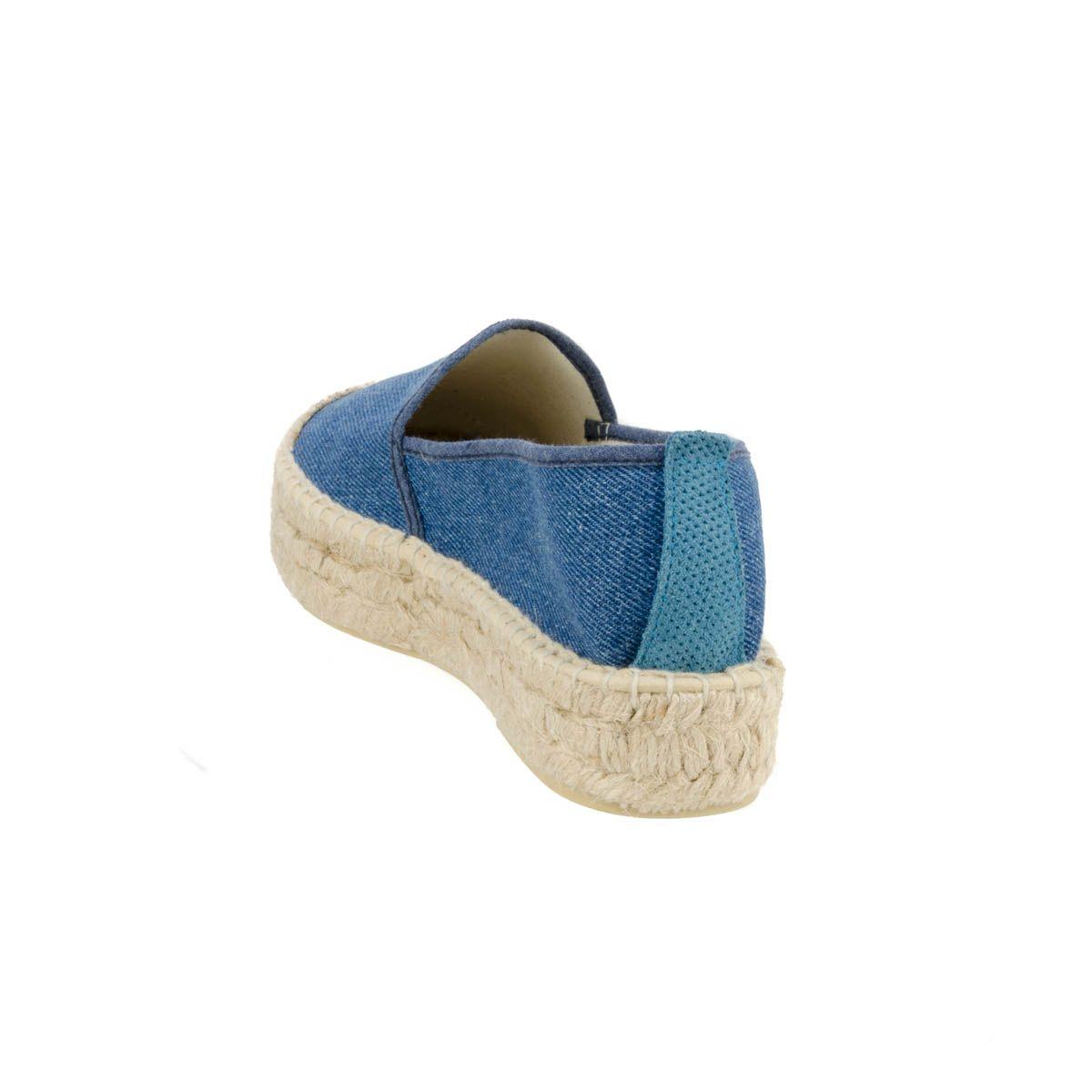 Leindia Artisanal Espadrille in Blue