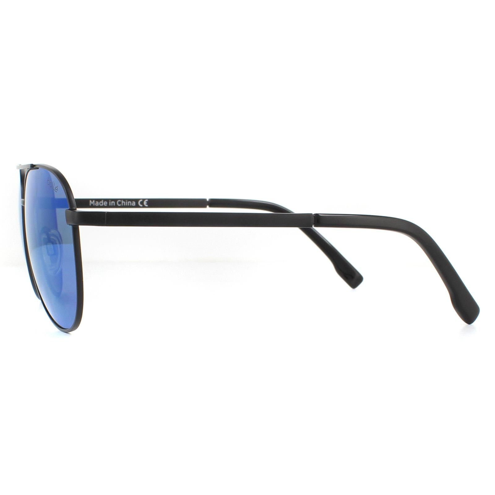 Bolle Sunglasses Evel 12536 Matte Black Offshore Blue Polarized