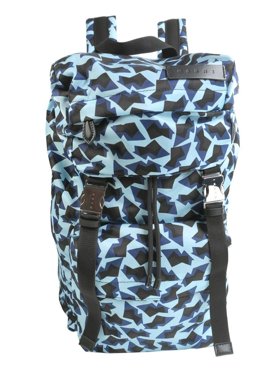 MARNI MEN'S M34WA0023S48706001S BLUE POLYESTER BACKPACK