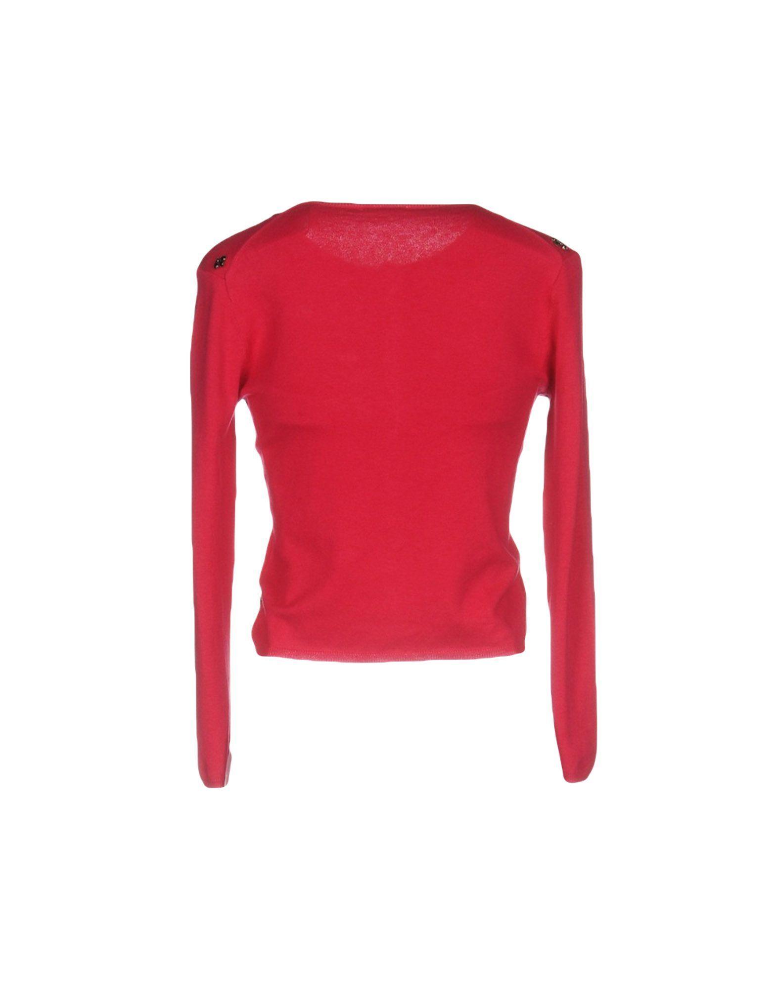 P.A.R.O.S.H. Fuchsia Silk Knit Cardigan