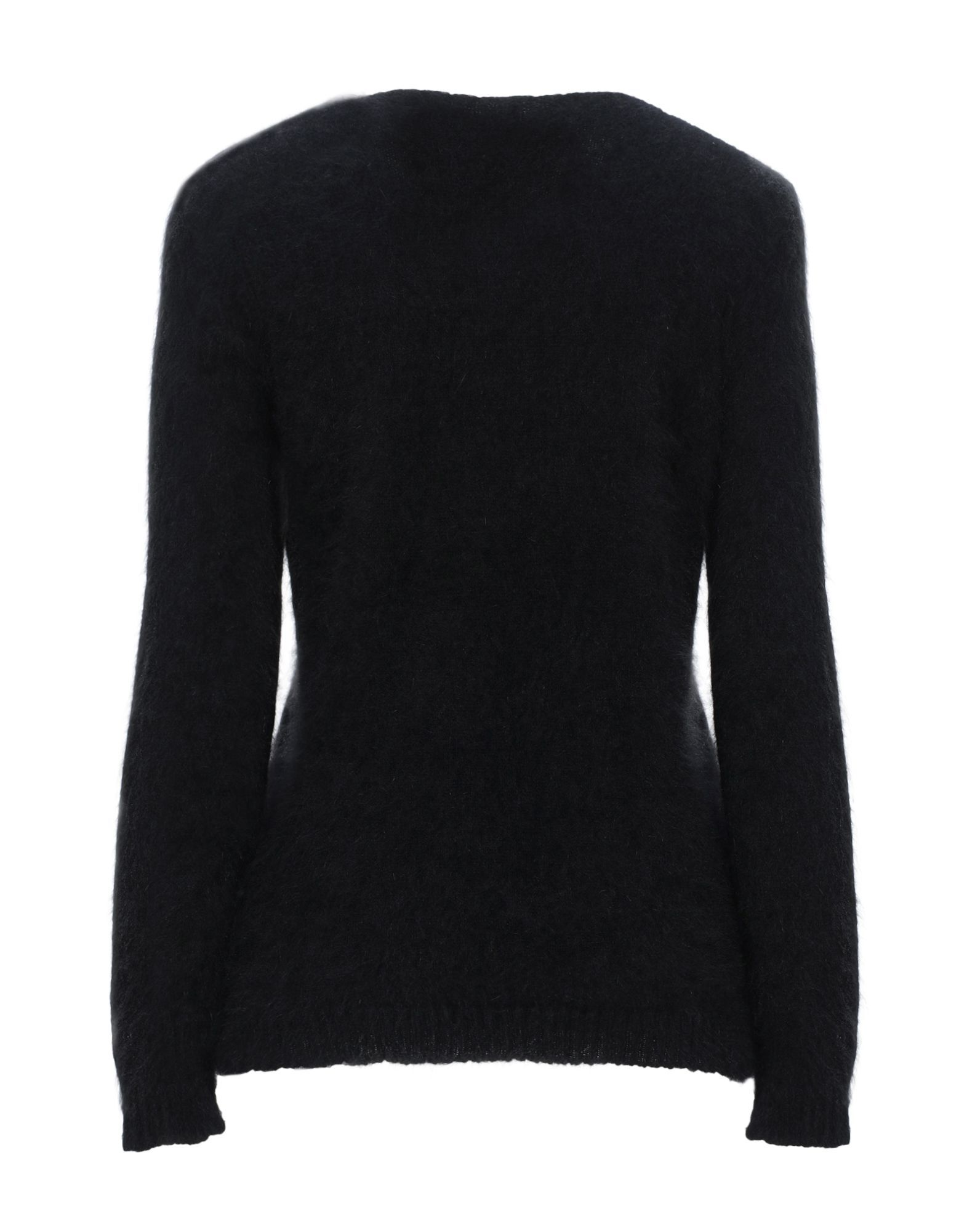 No21 Black Angora Knit Embroidered Jumper