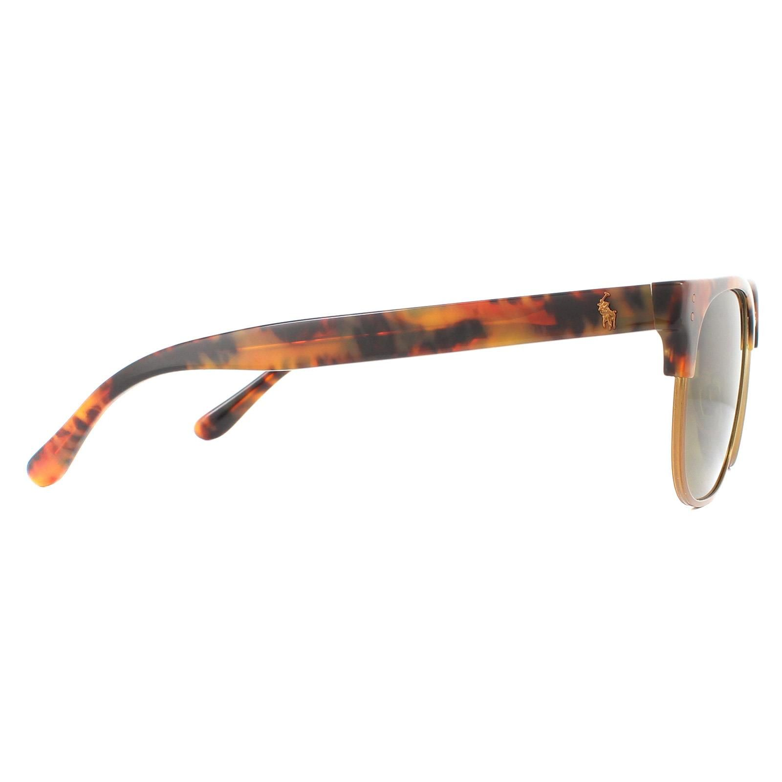 Polo Ralph Lauren Sunglasses PH4152 501773 Black Gold Bottle Green