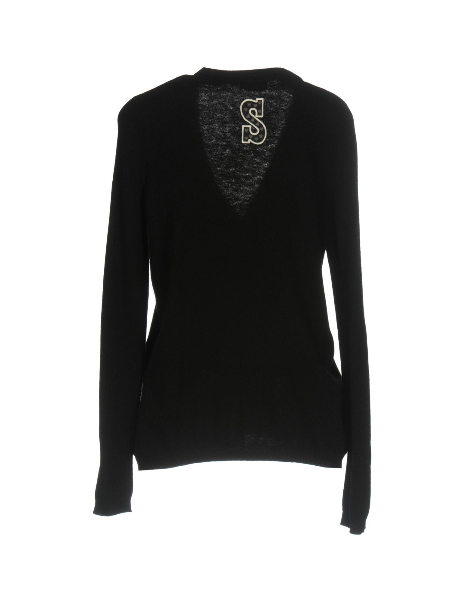 Scee By Twinset Black Wool Cardigan