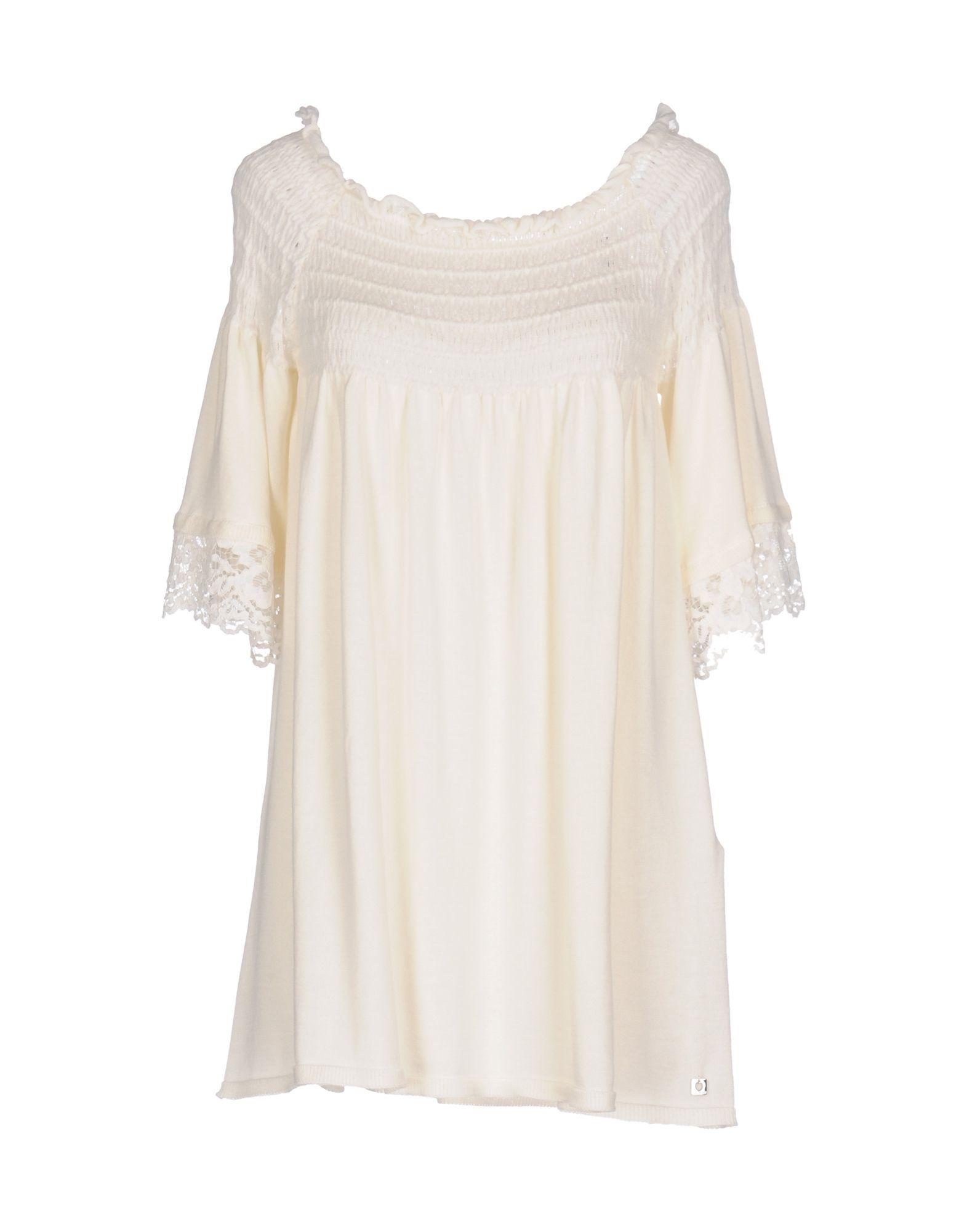 Twinset Ivory Cotton Lace Knit