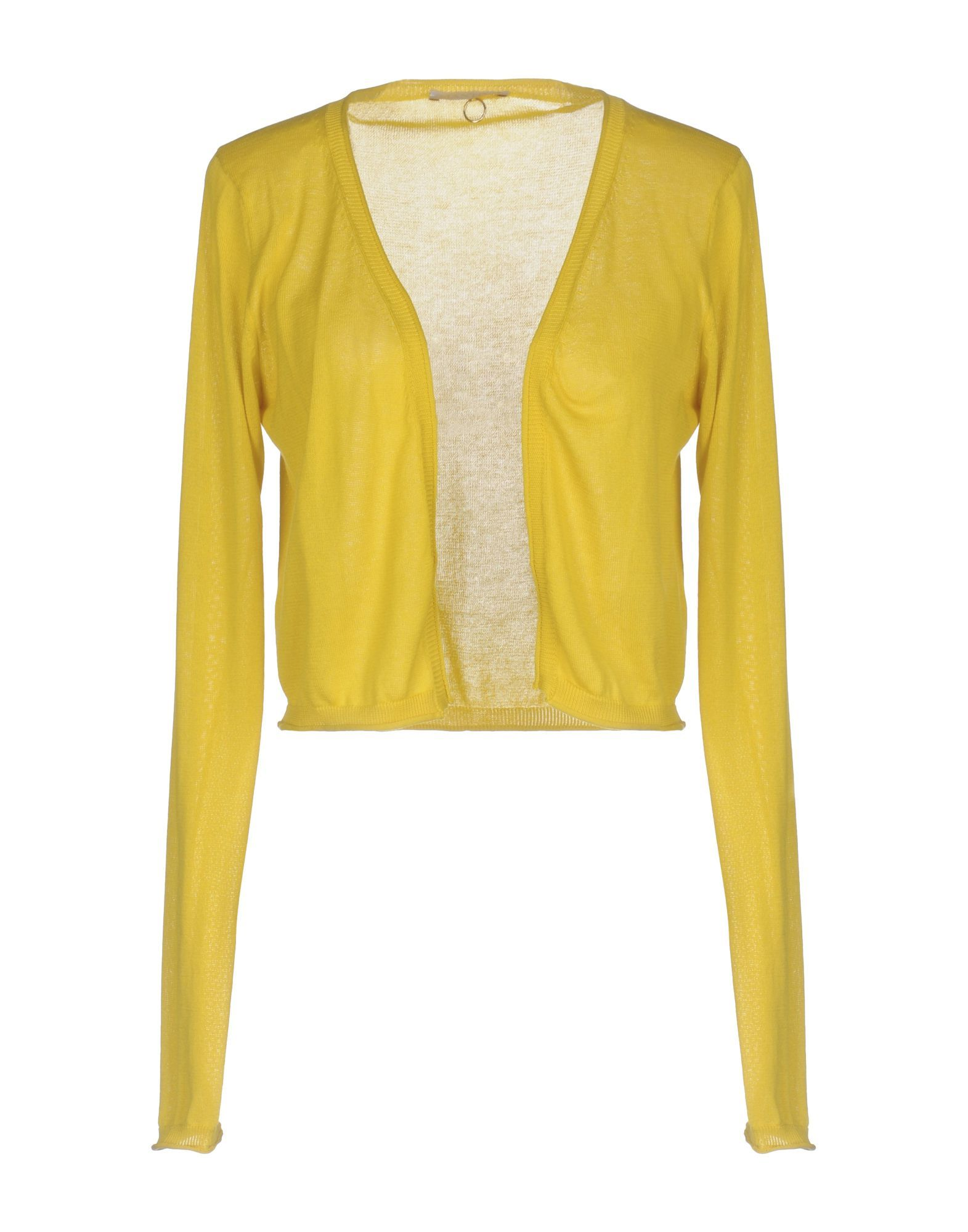 KNITWEAR Mant� Yellow Woman Cotton