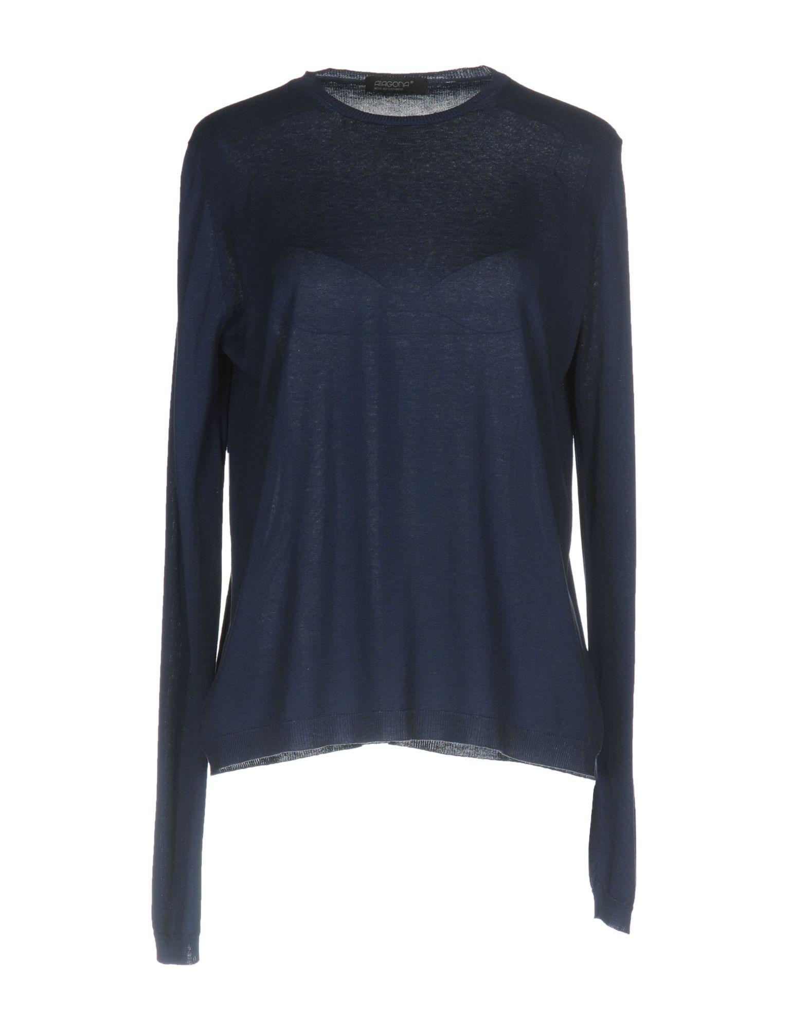 KNITWEAR Aragona Dark blue Woman Silk