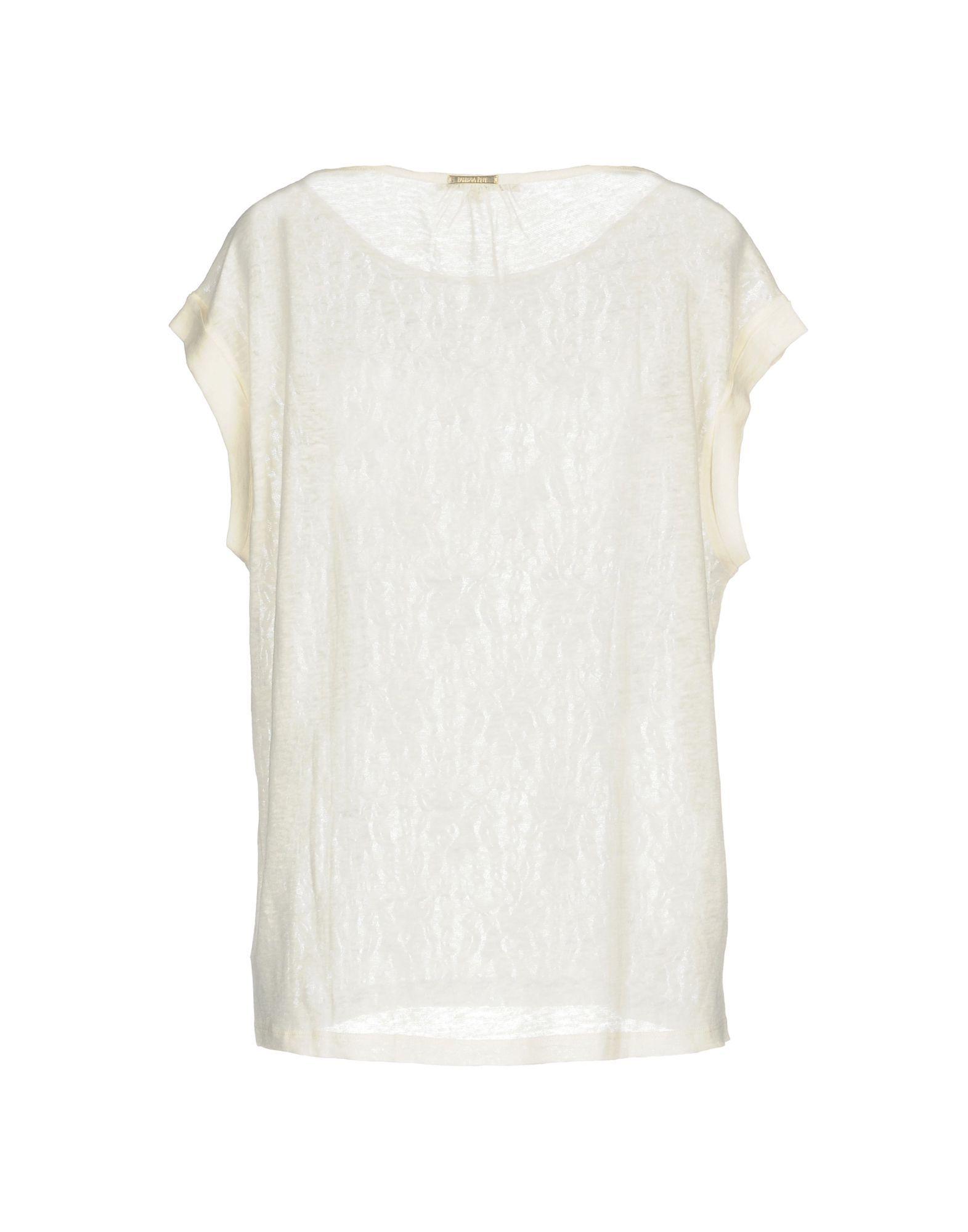 Patrizia Pepe White Stripe Short Sleeve Knit