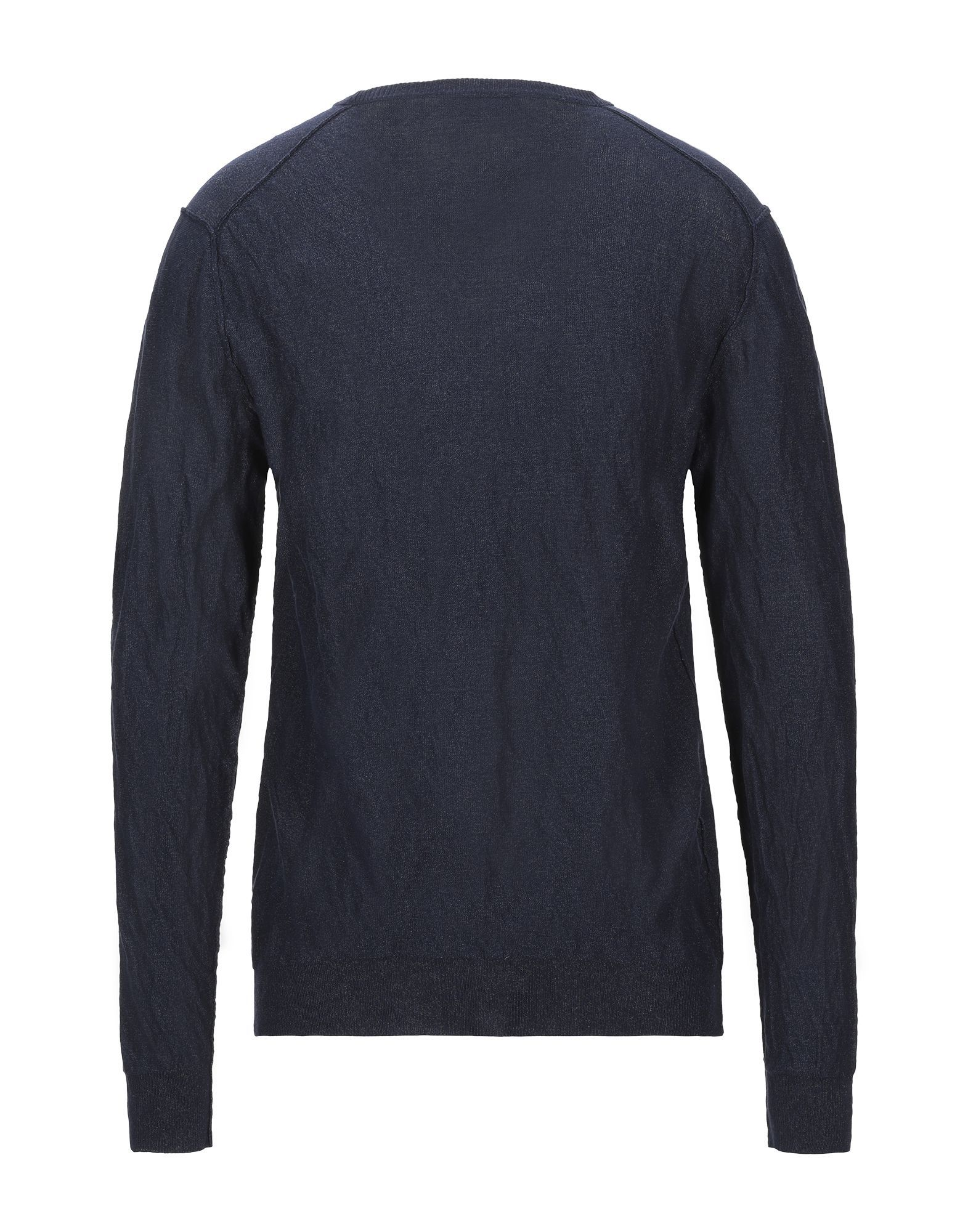 KNITWEAR Man Aglini Dark blue Cotton