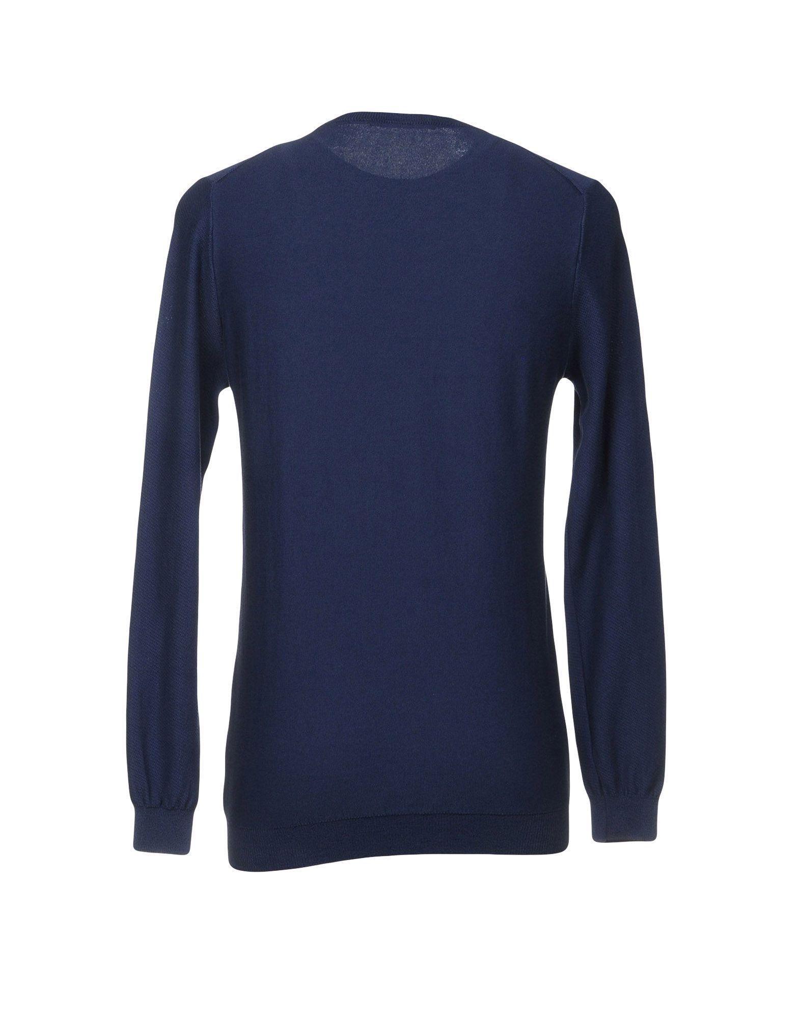 KNITWEAR Individual Dark blue Man Cotton