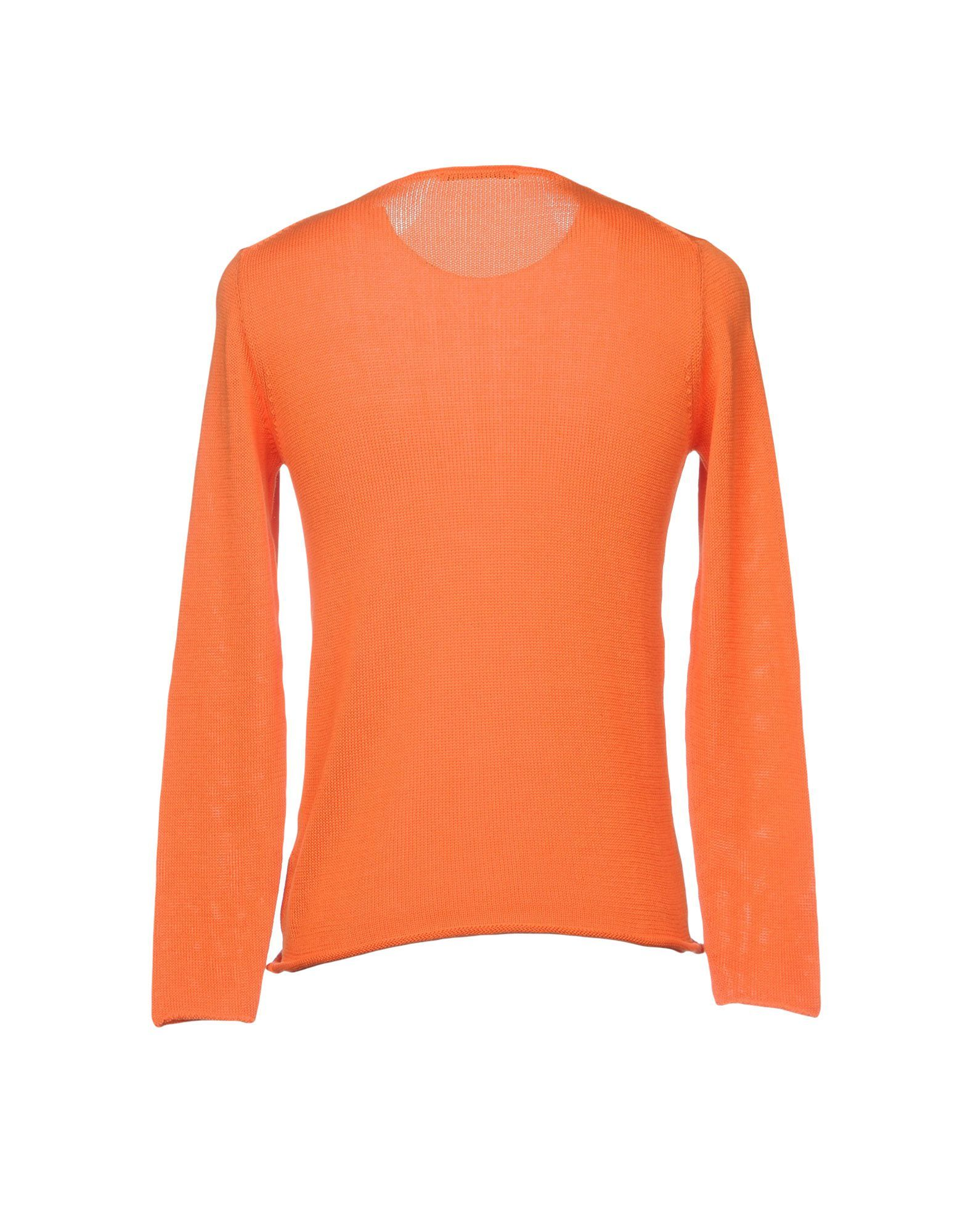 KNITWEAR Daniele Alessandrini Orange Man Cotton