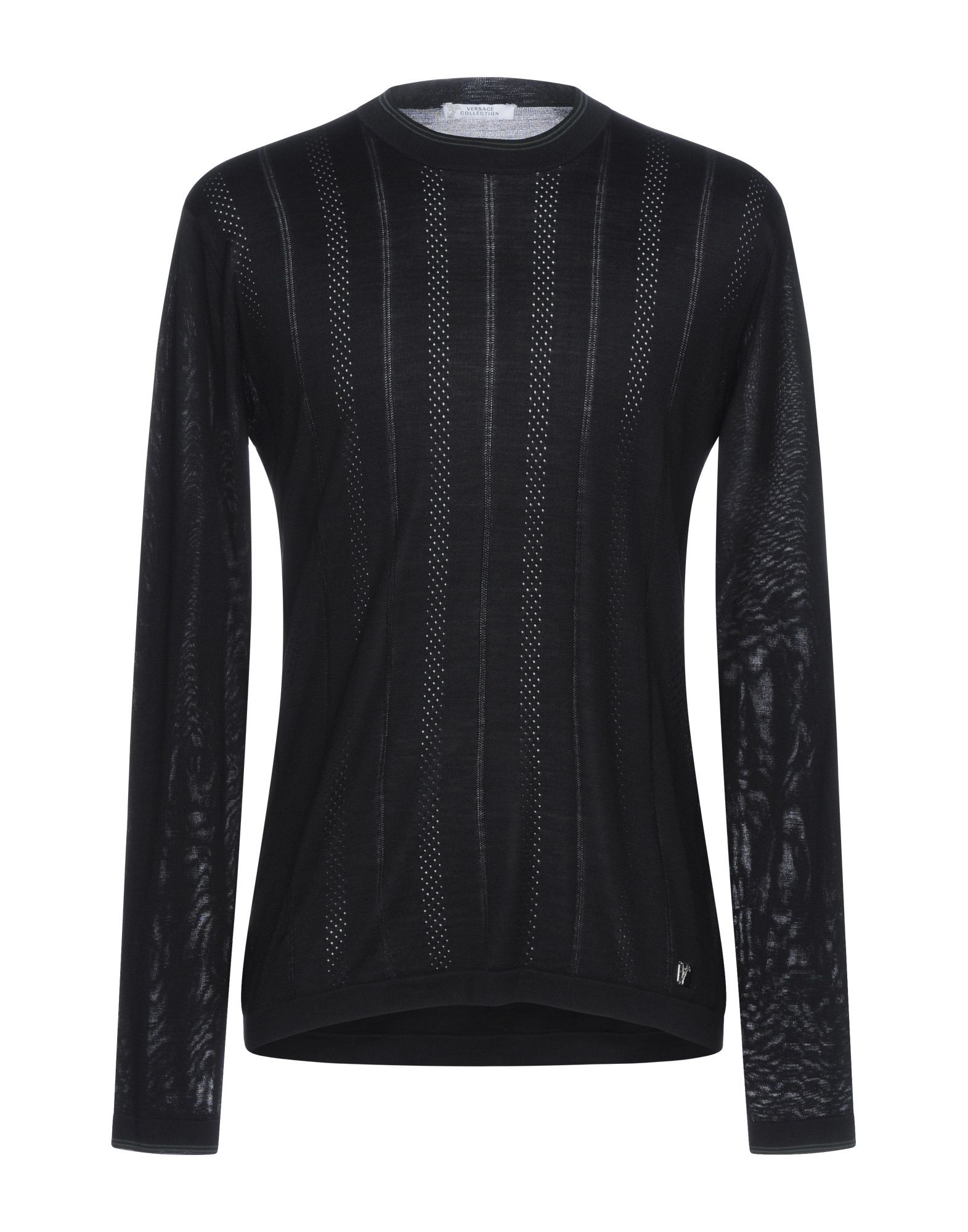 Versace Collection Black Silk Knit Jumper