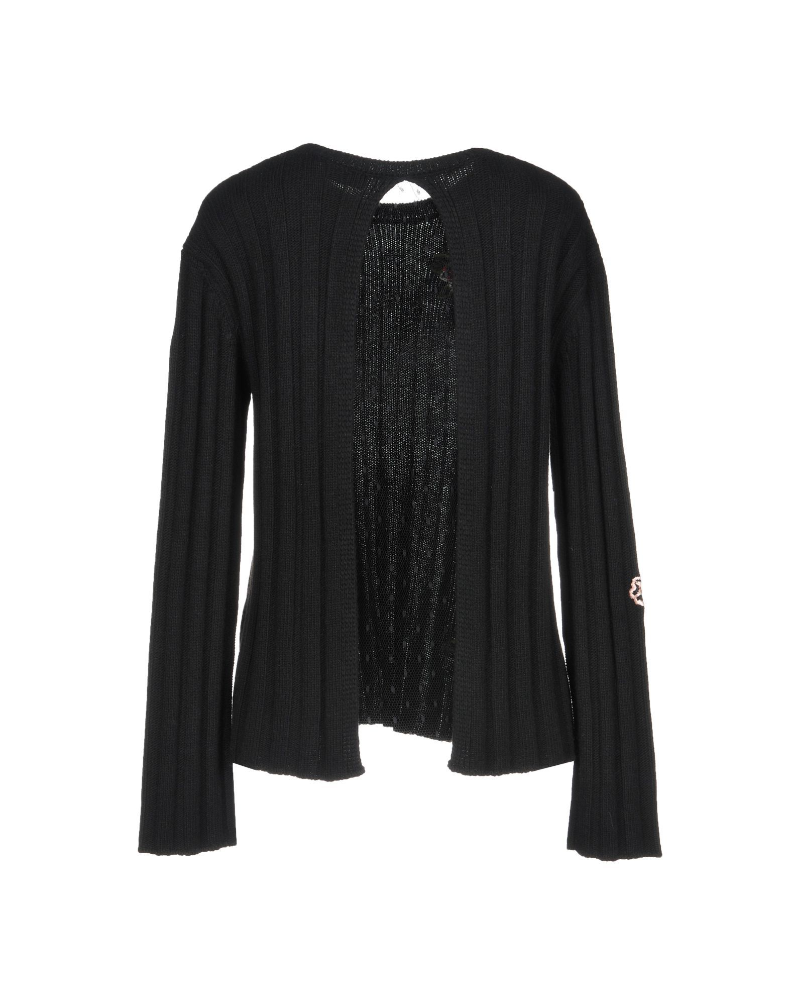 Redvalentino Black Wool Embroidered Cardigan
