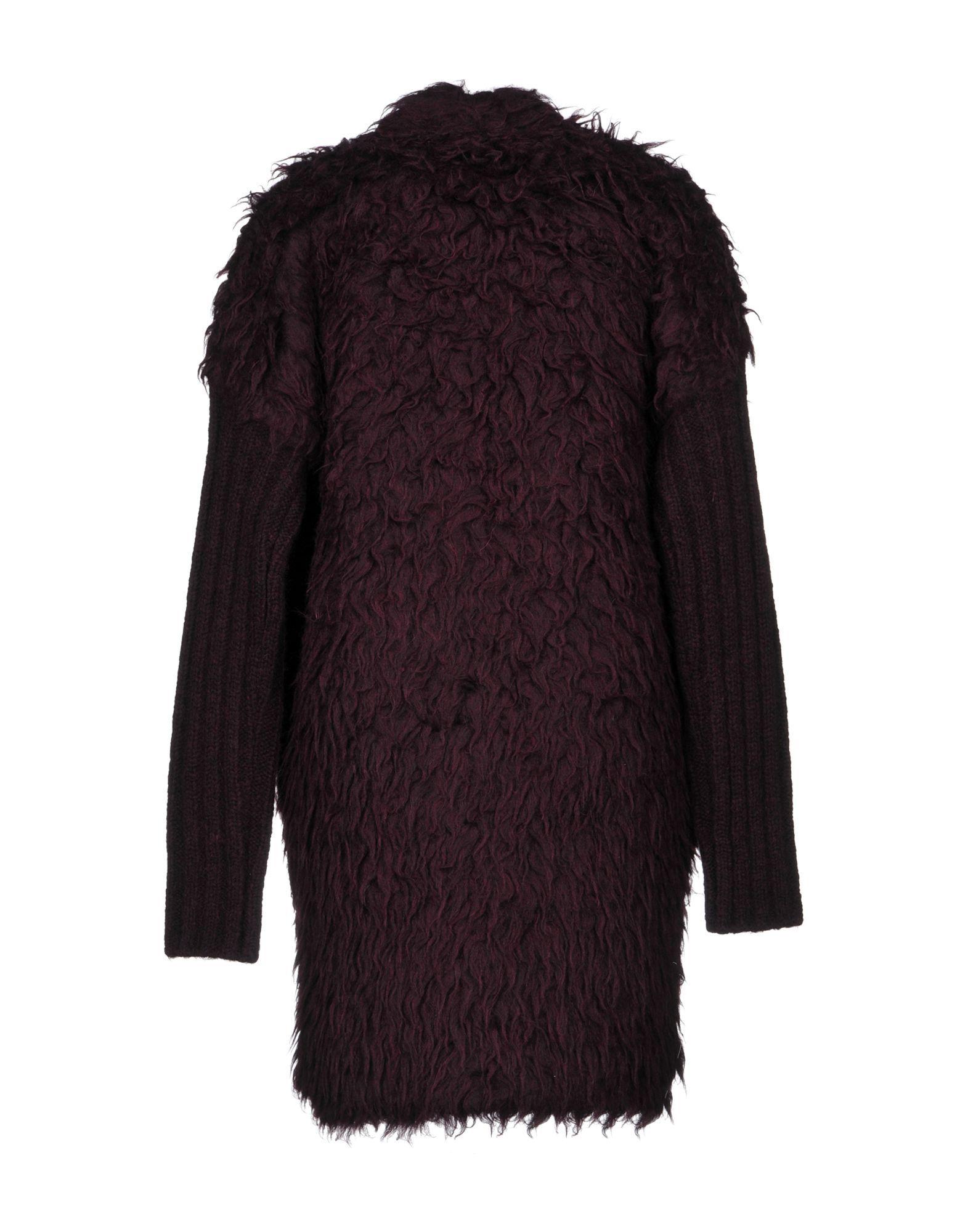 Just Cavalli Deep Purple Alpaca Coat