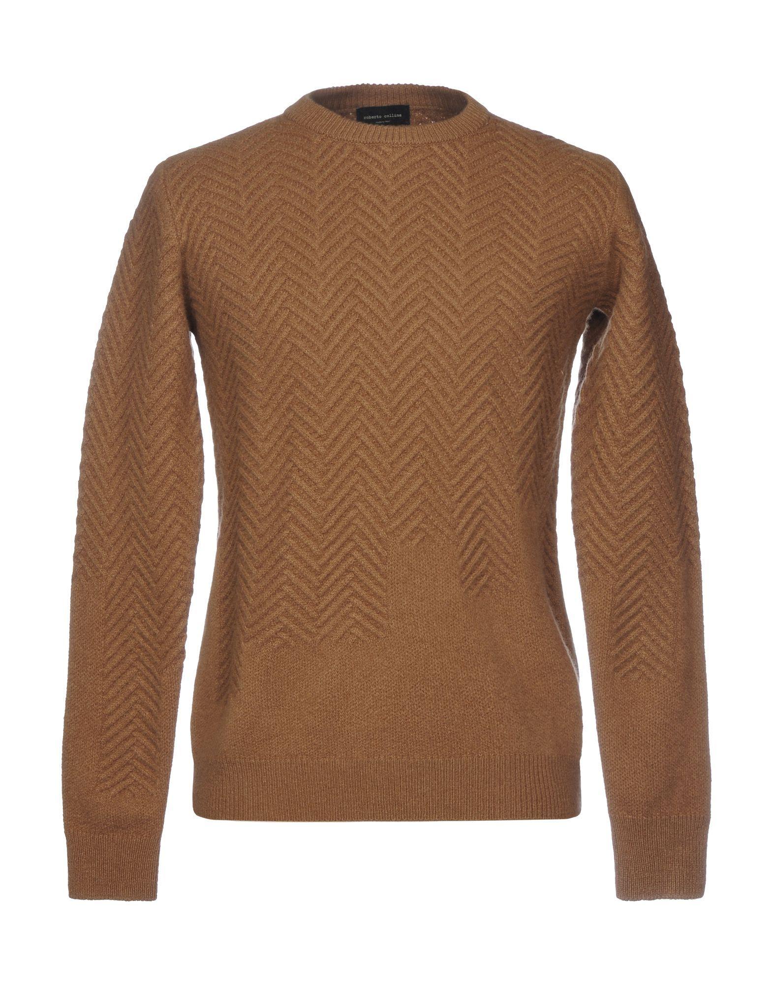 KNITWEAR Roberto Collina Brown Man Merinos Wool