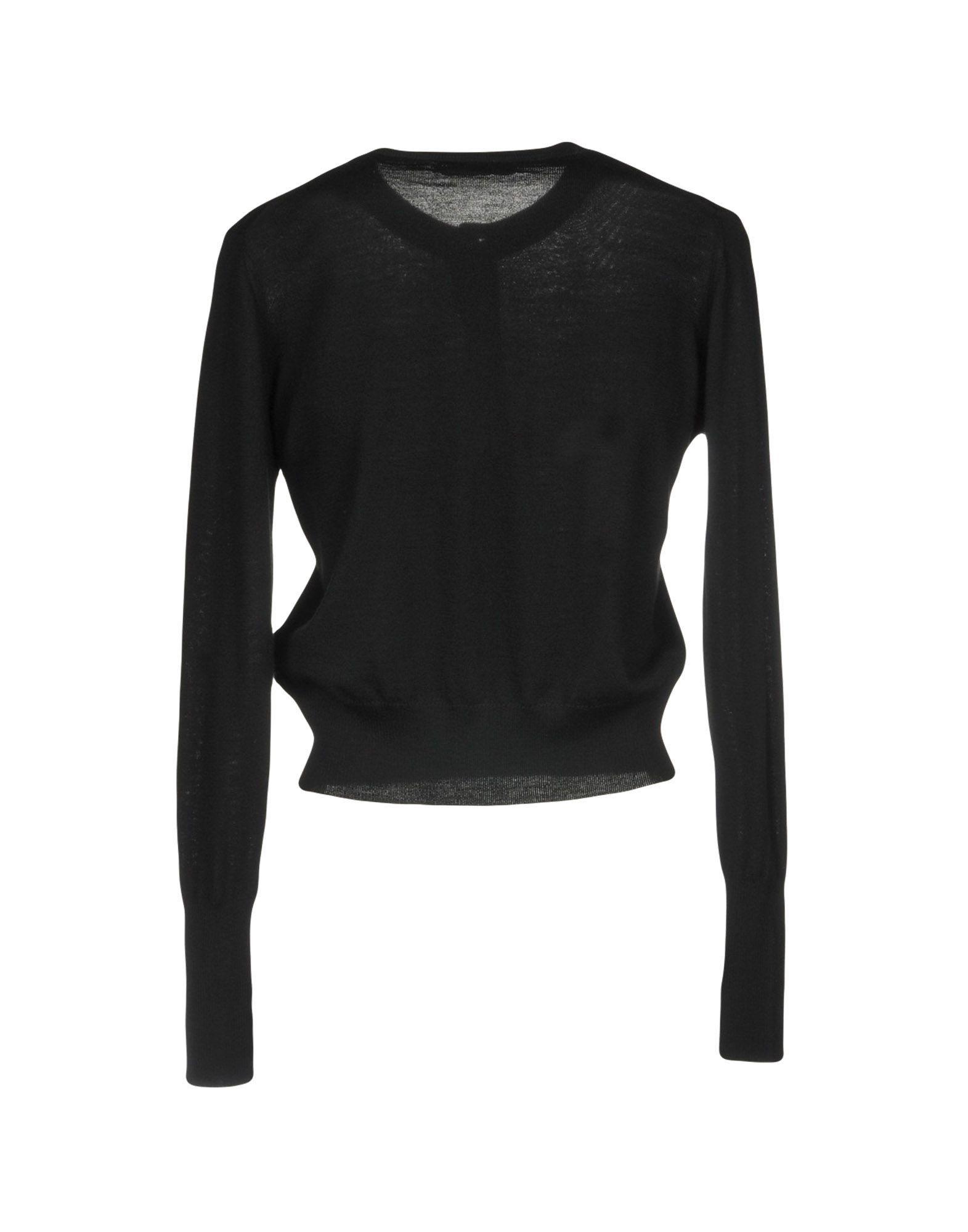 Alpha Studio Black Merino Wool Cardigan