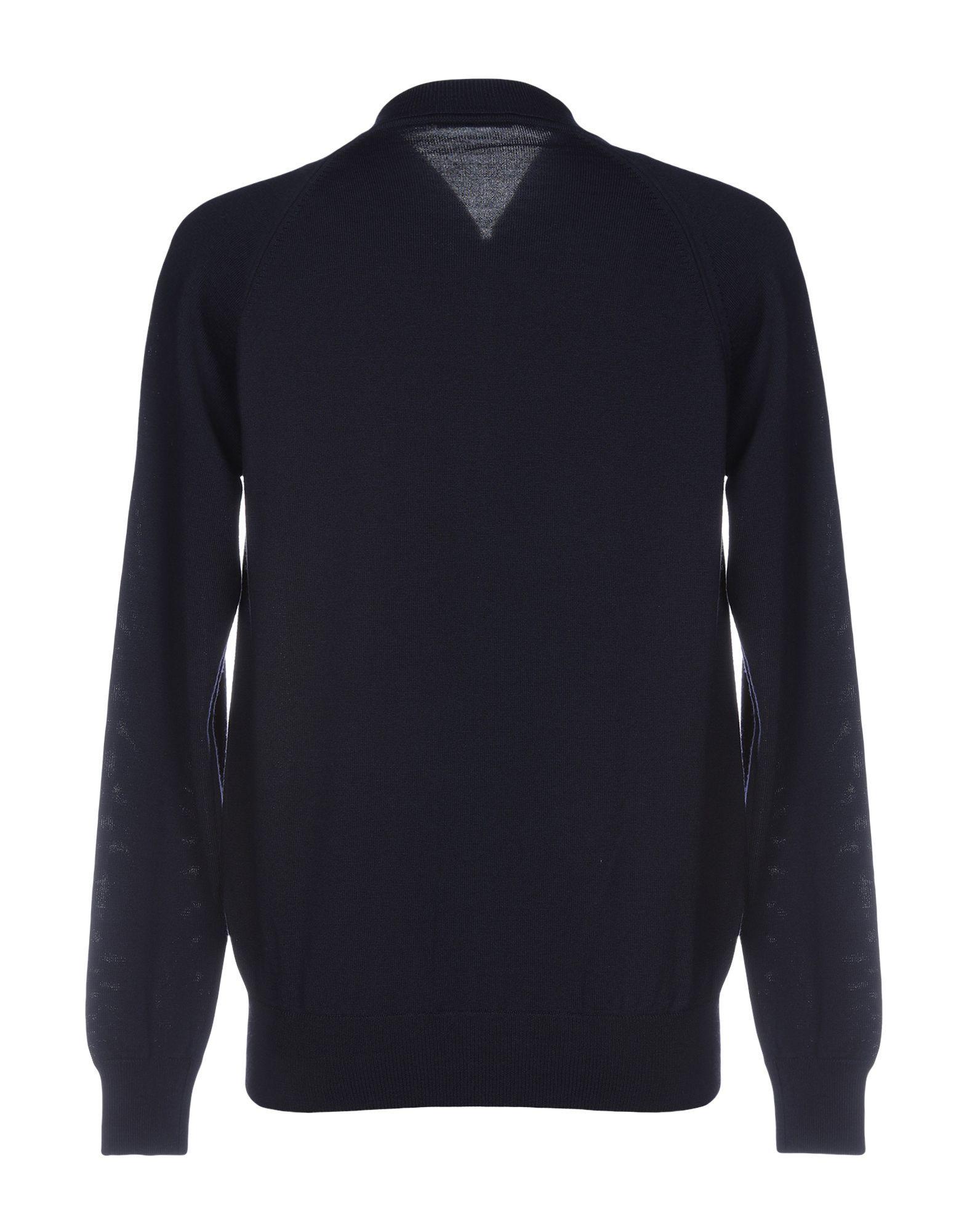 KNITWEAR Paolo Pecora Dark blue Man Wool