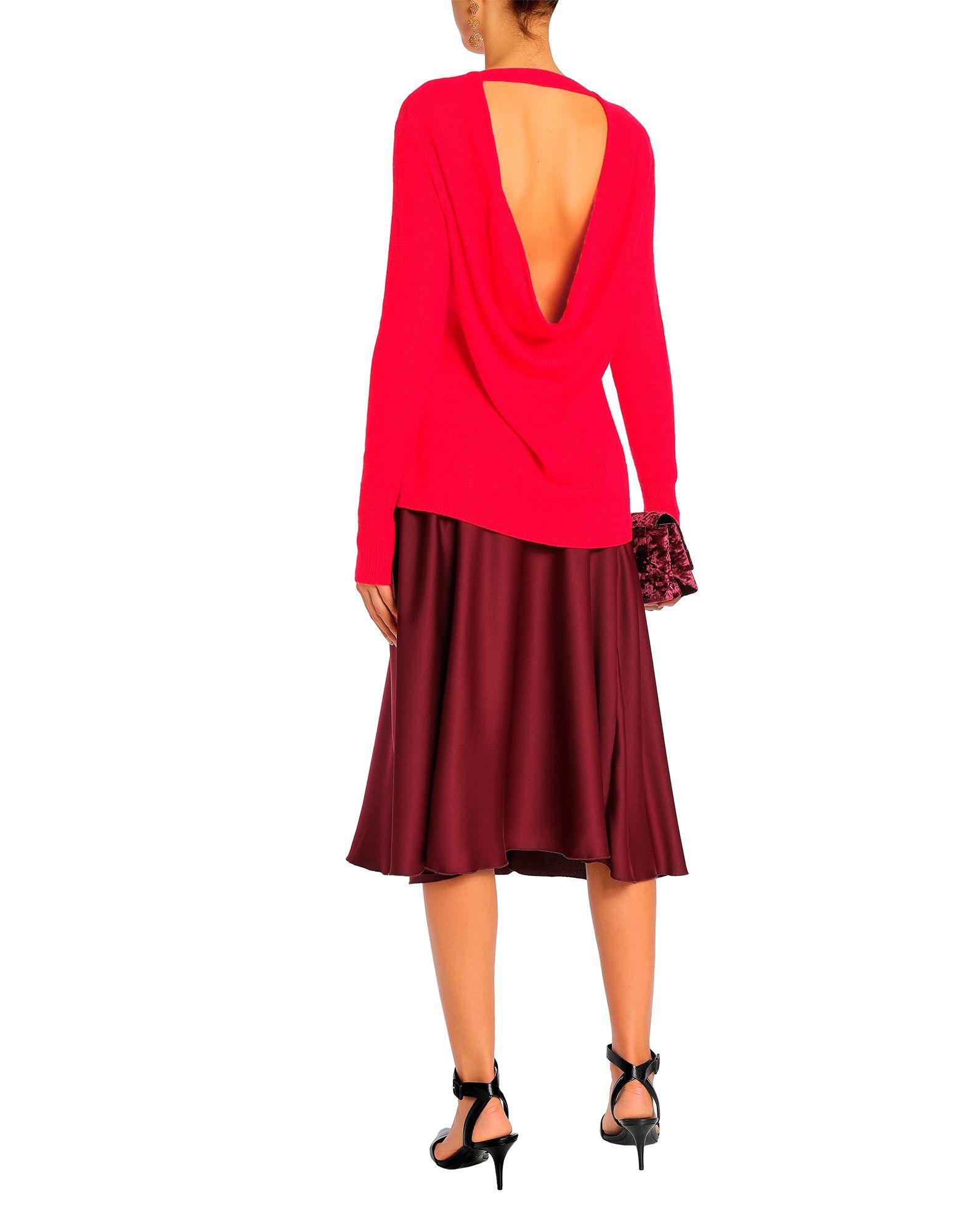 Halston Red Cashmere Jumper
