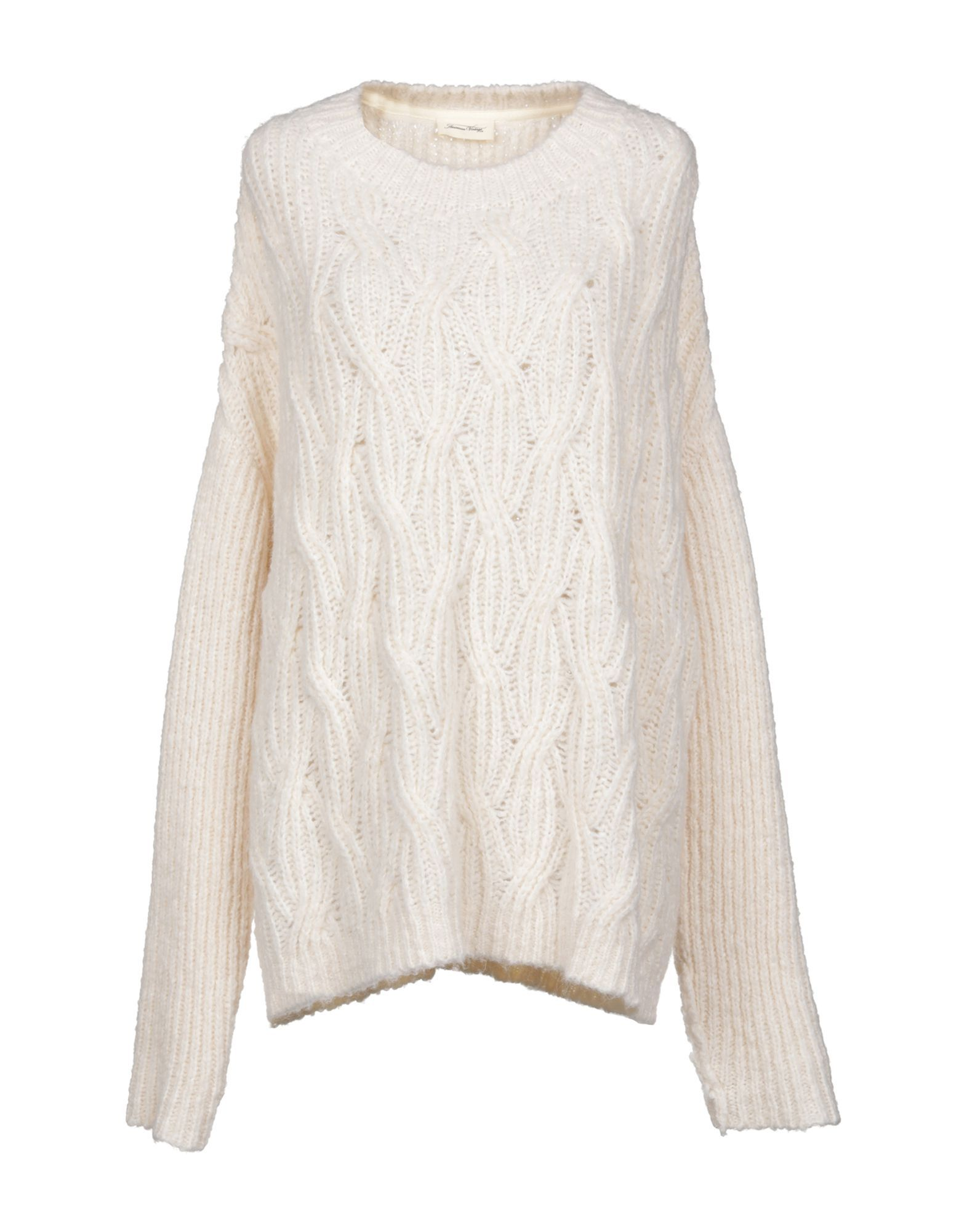American Vintage Ivory Cable Knit Jumper