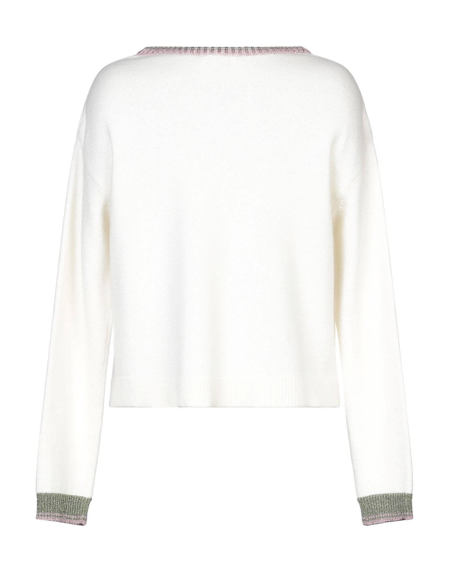 Redvalentino Ivory Wool Embroidered Detail Jumper