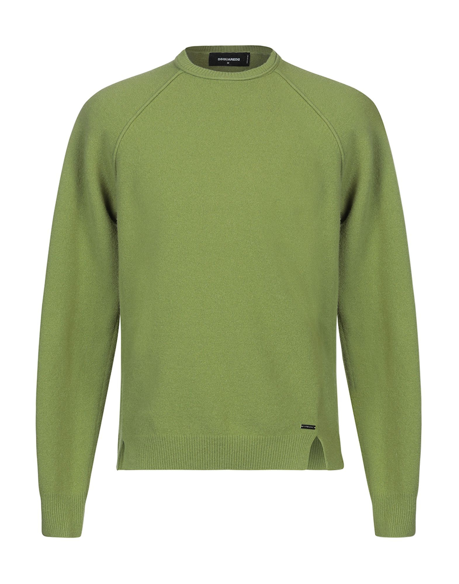 Dsquared2 Green Virgin Wool Lightweight Knit Jumper