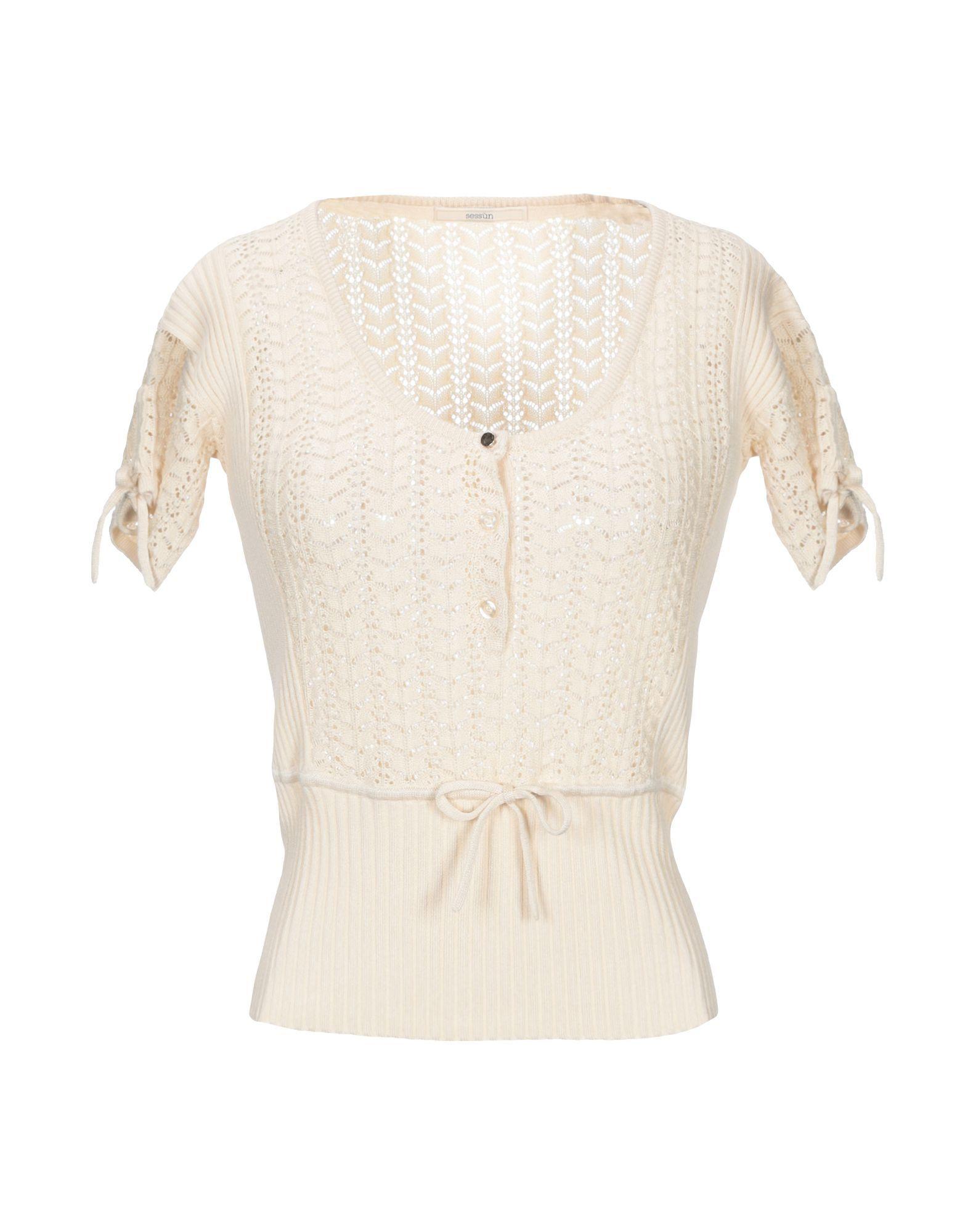 Sessun Beige Short Sleeve Knit