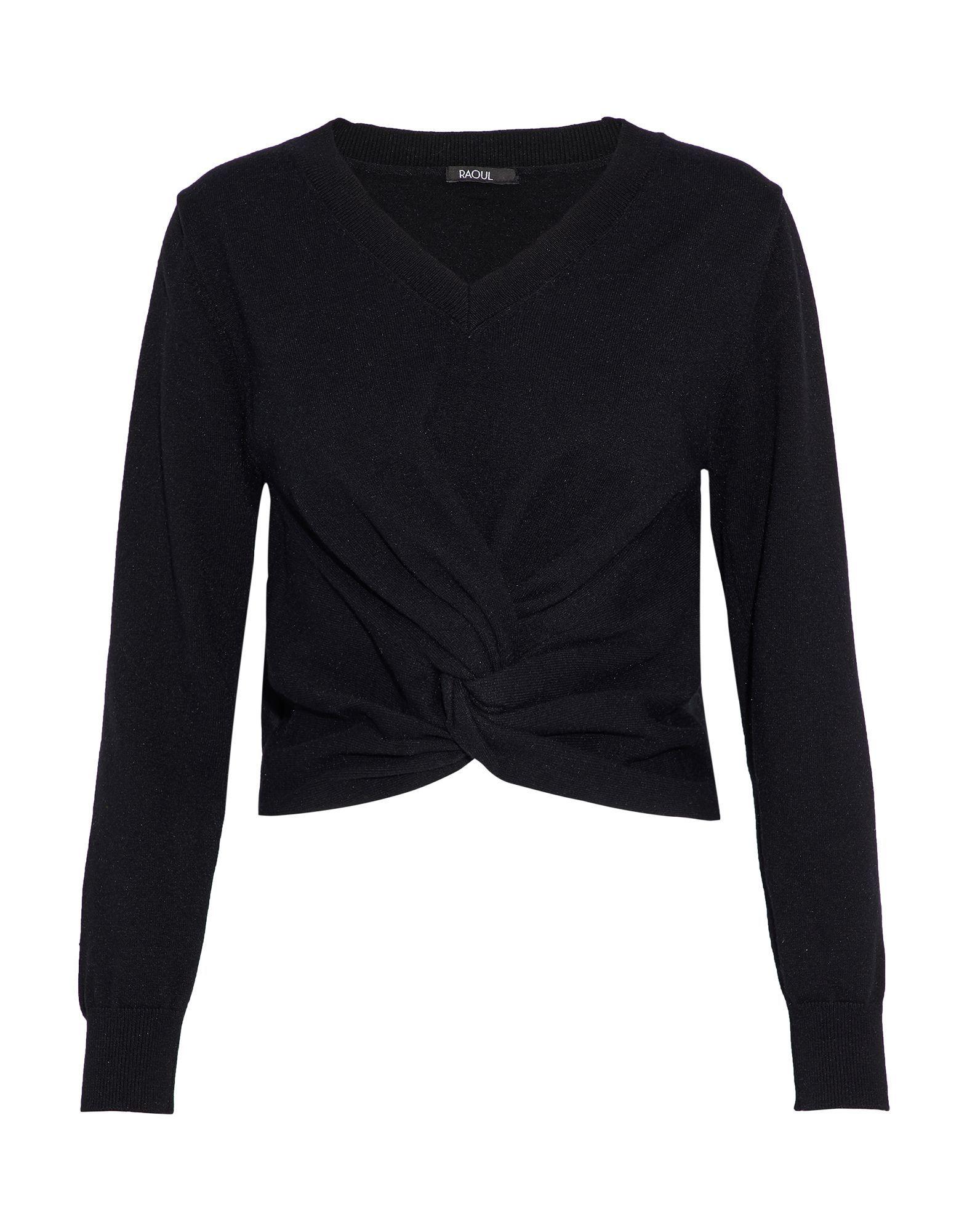 Raoul Black Cotton Lightweight Knit