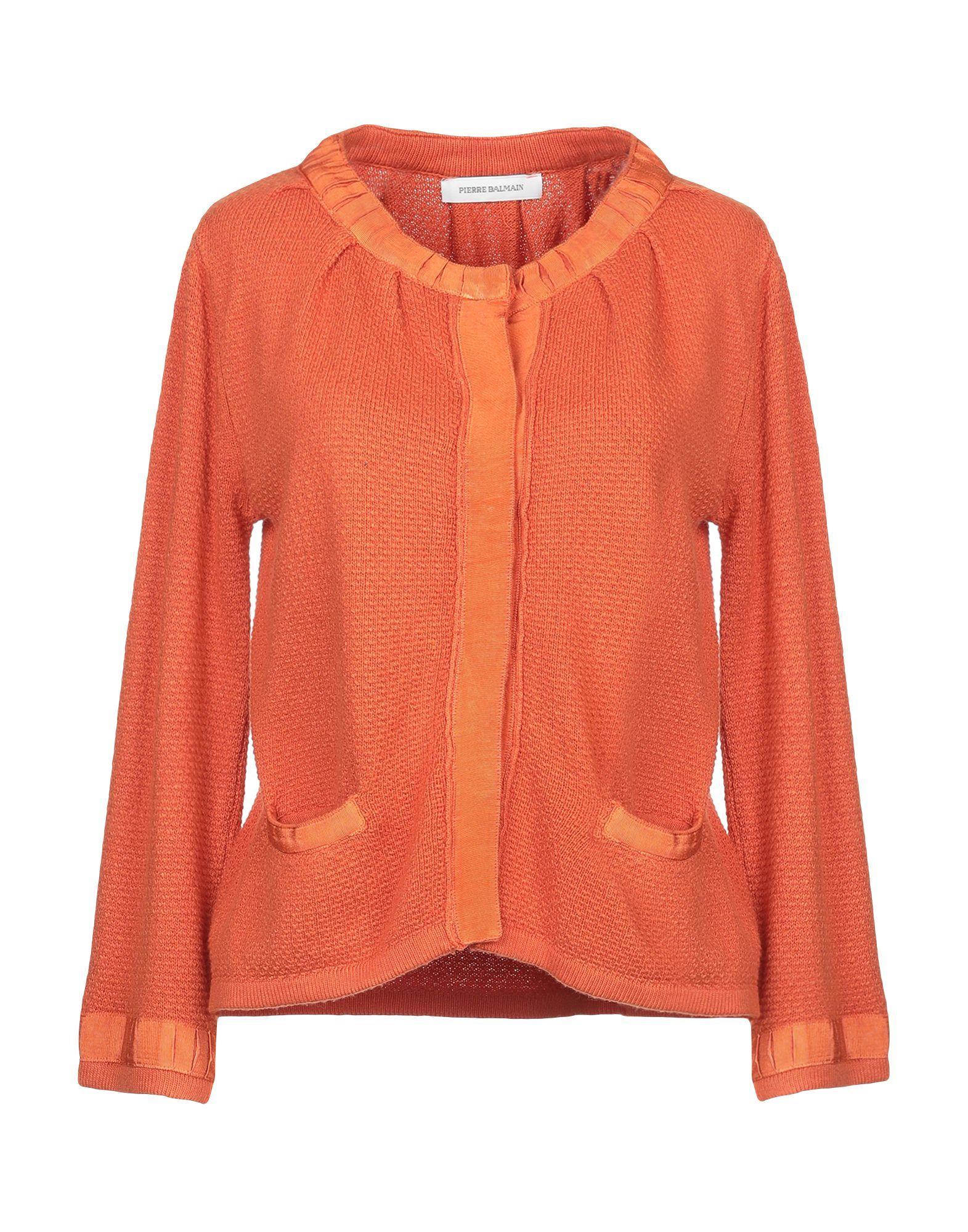 Pierre Balmain Orange Knit Cardigan