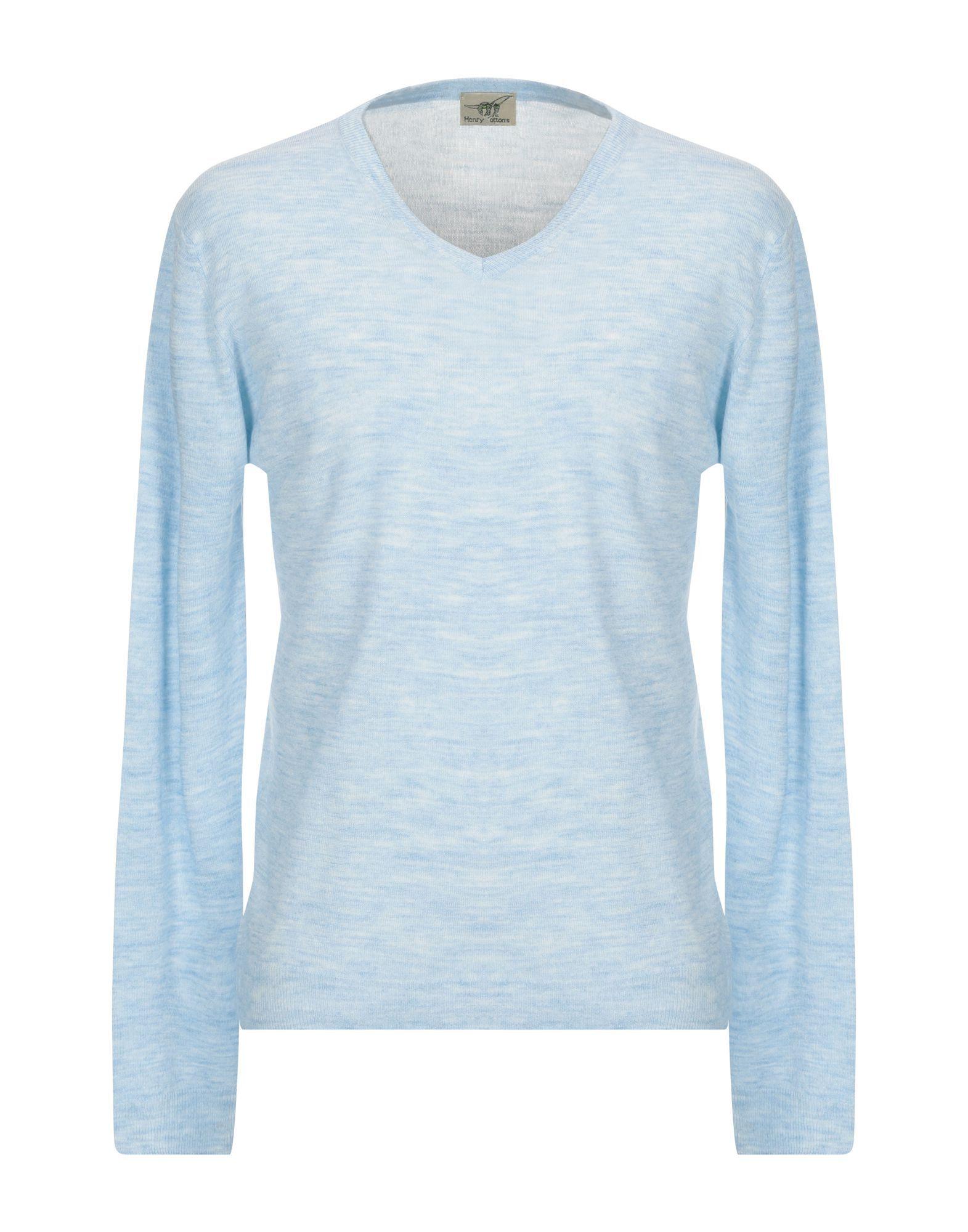 Henry Cotton's Sky Blue Merino Wool Knit Jumper