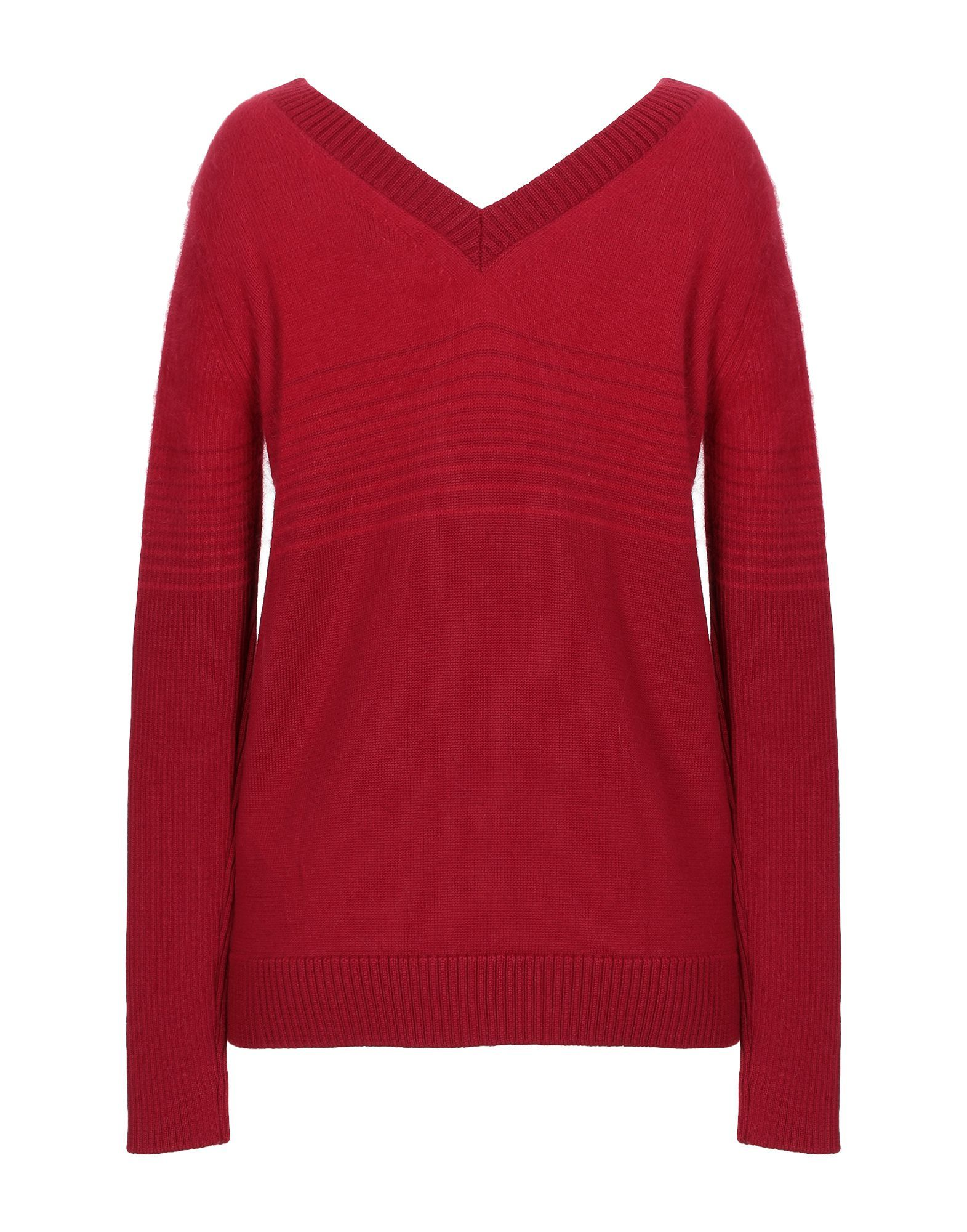 Just Cavalli Red Wool Lightweight Knit Jumper