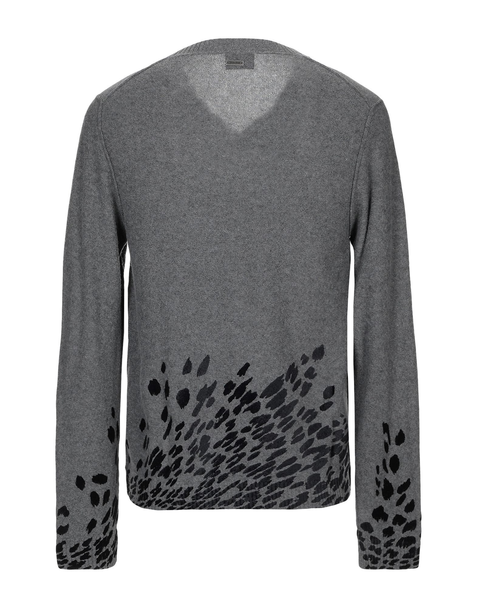 Just Cavalli Grey Wool Knit Jumper
