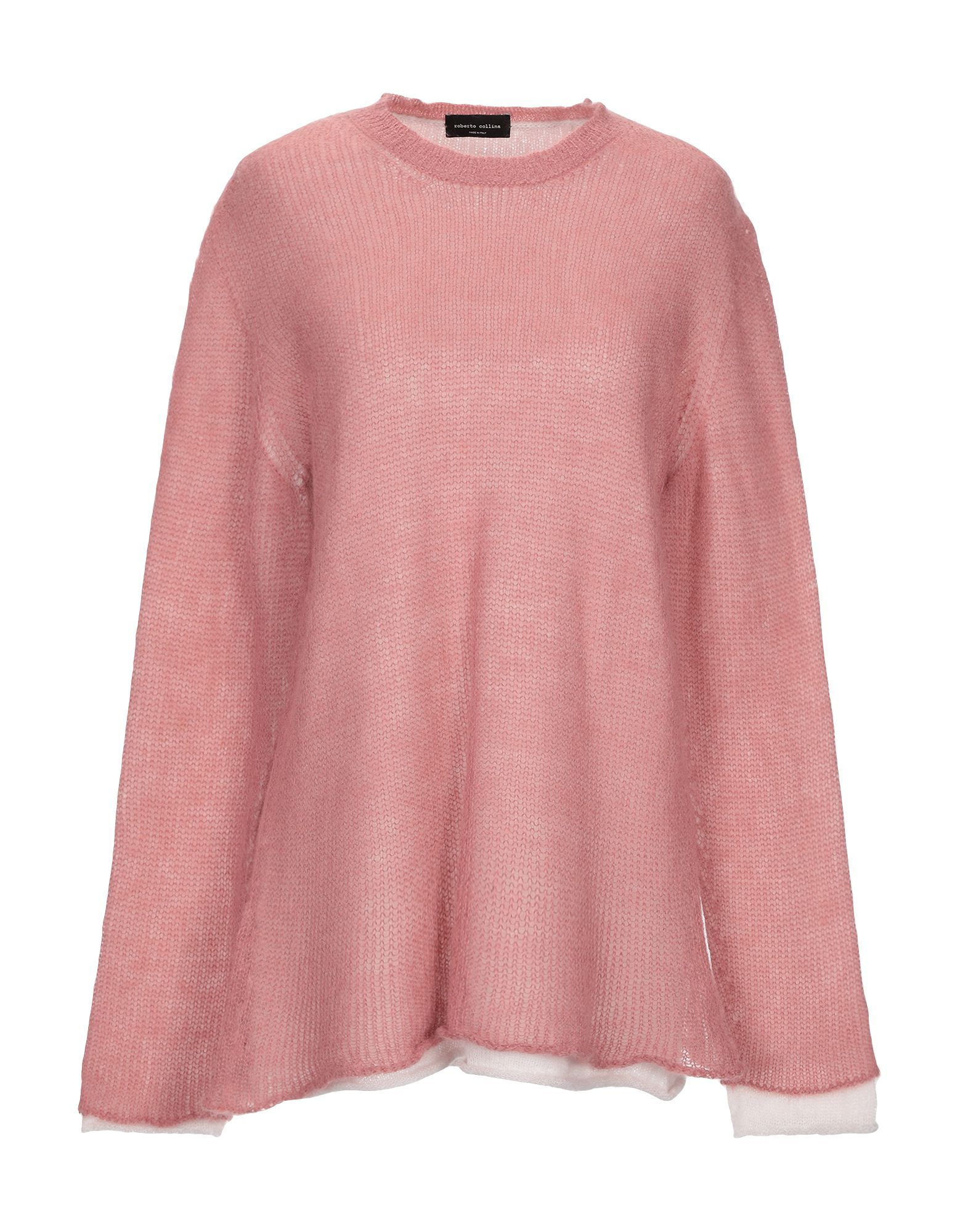 Knitwear Roberto Collina Pastel Pink Women's Mohair Wool