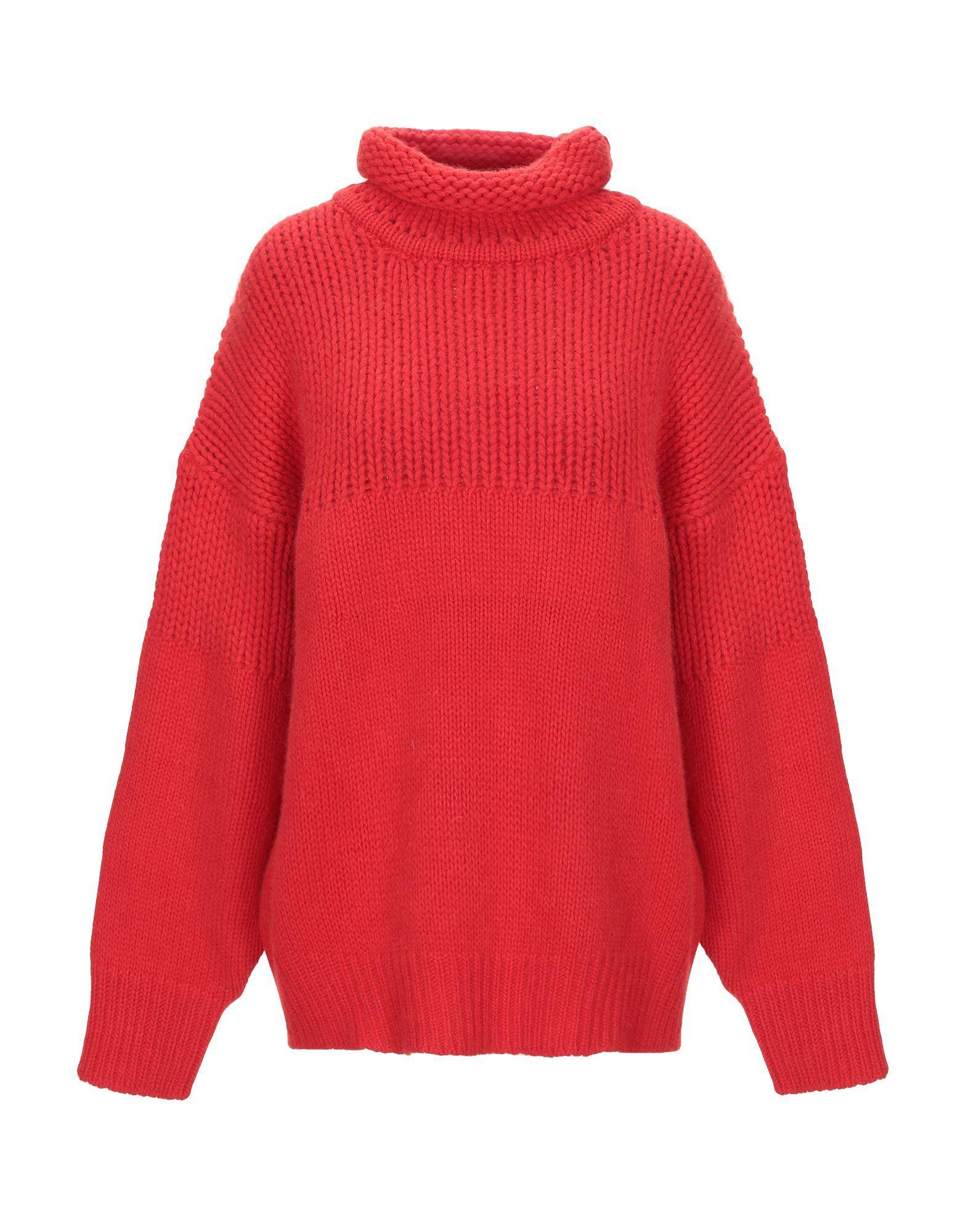Jil Sander Red Virgin Wool Knit Jumper
