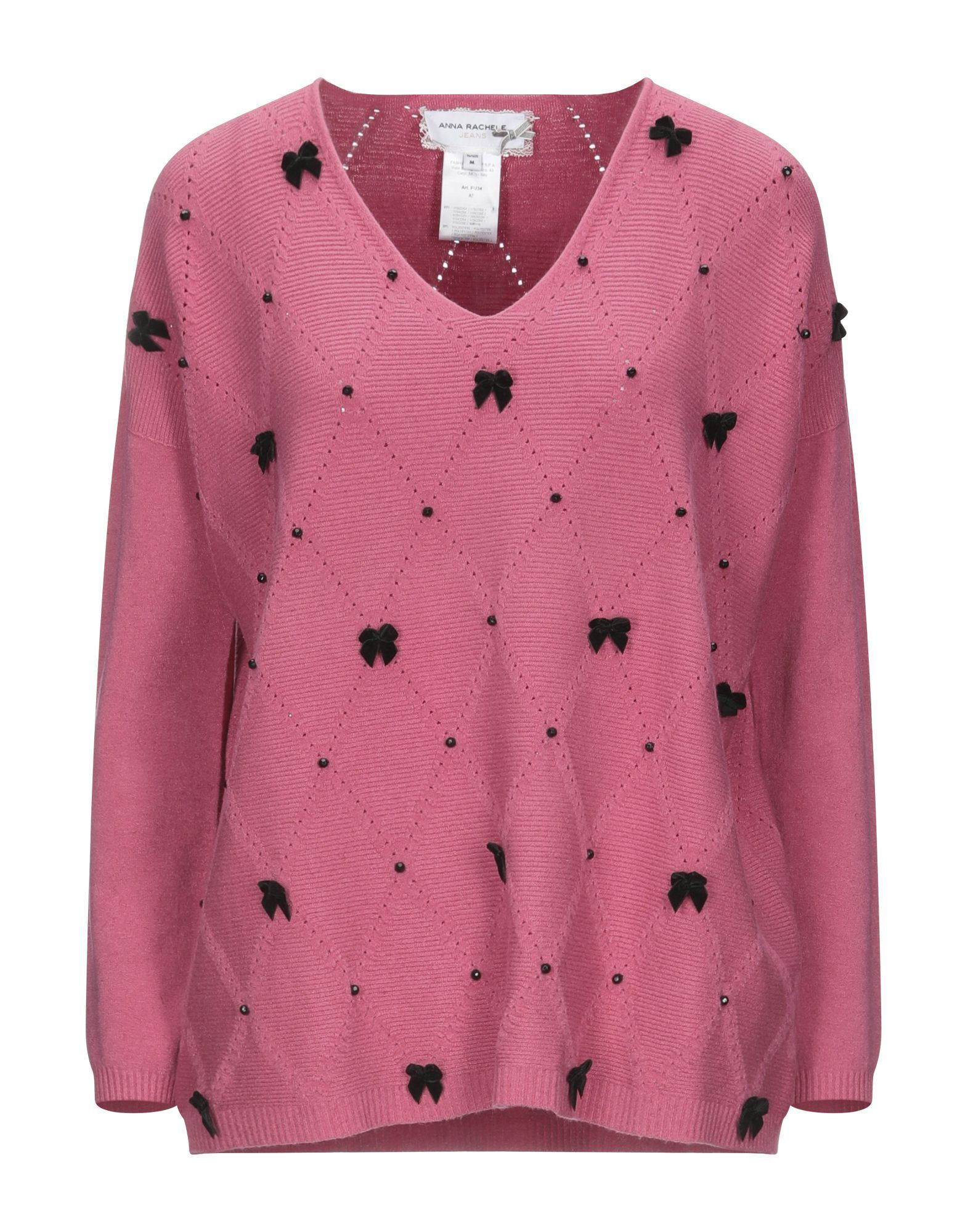 Anna Rachele Jeans Collection Pink Knit Embellished Jumper