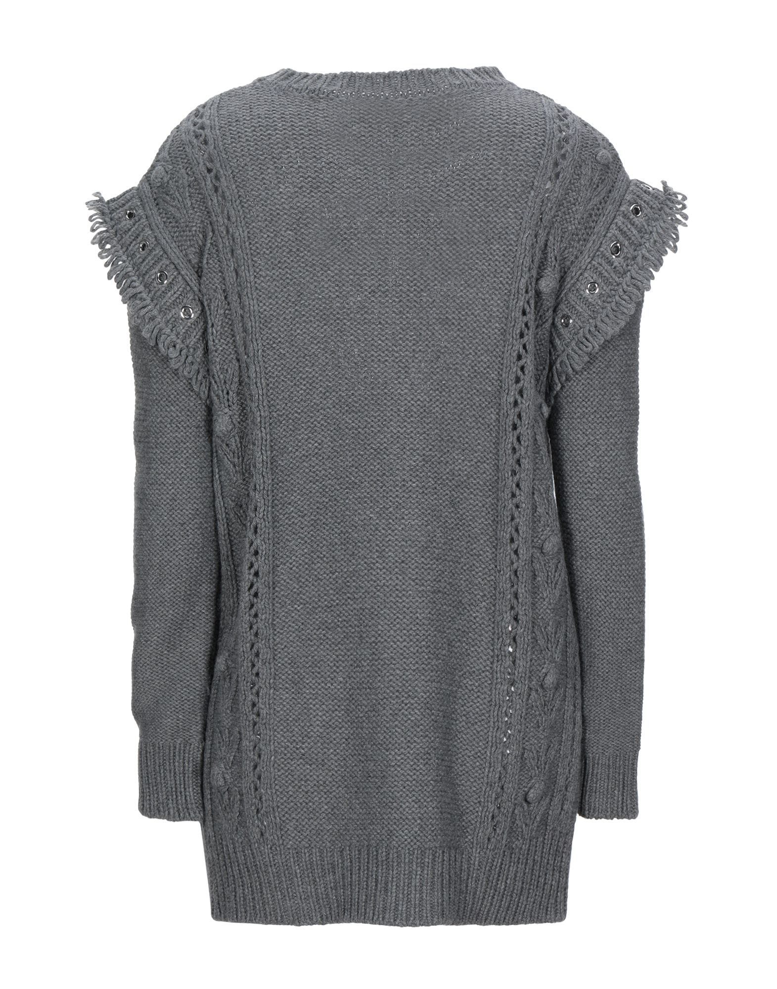 Redvalentino Lead Wool Knit Fringe Jumper