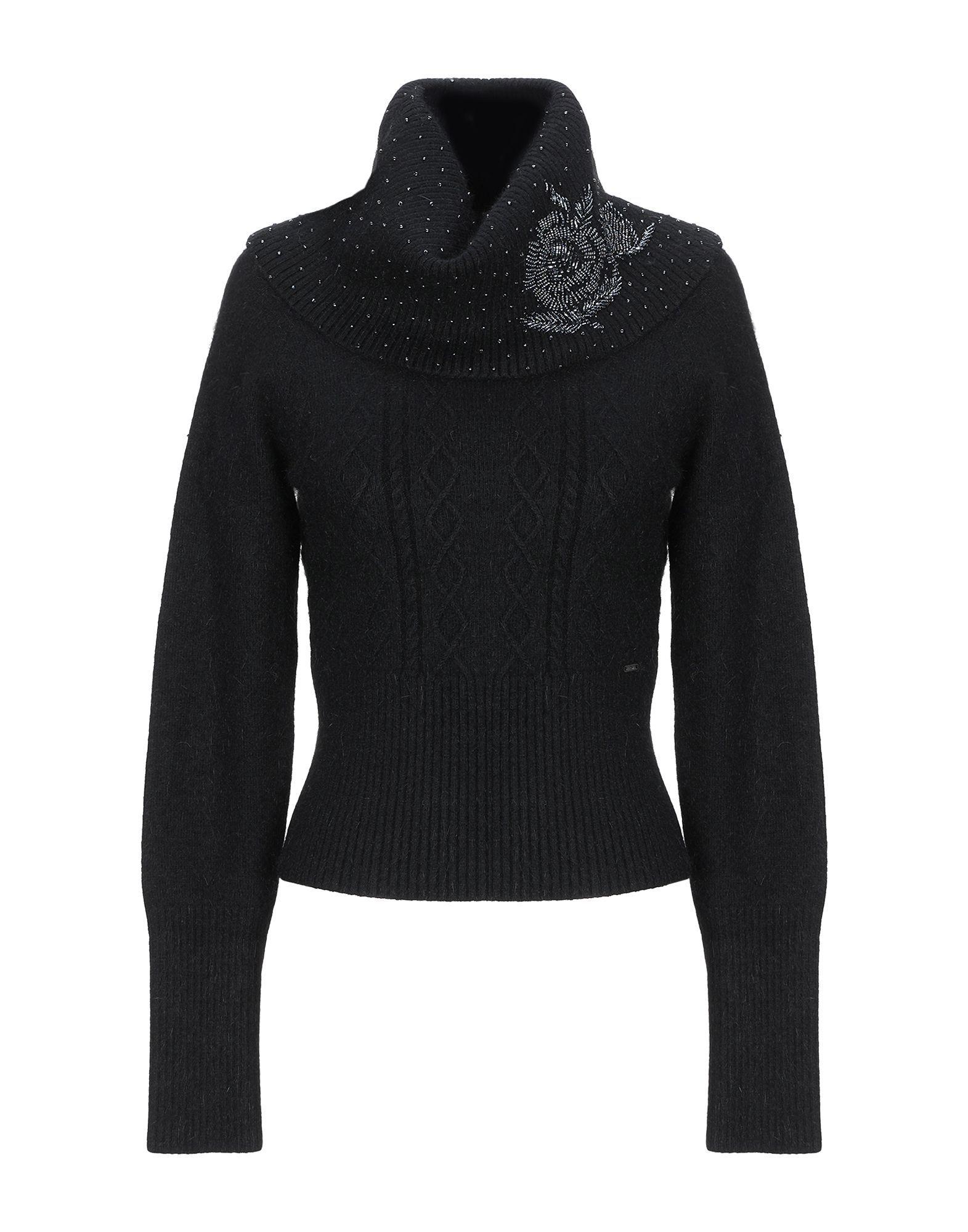 Fracomina Black Knit Embellished Jumper