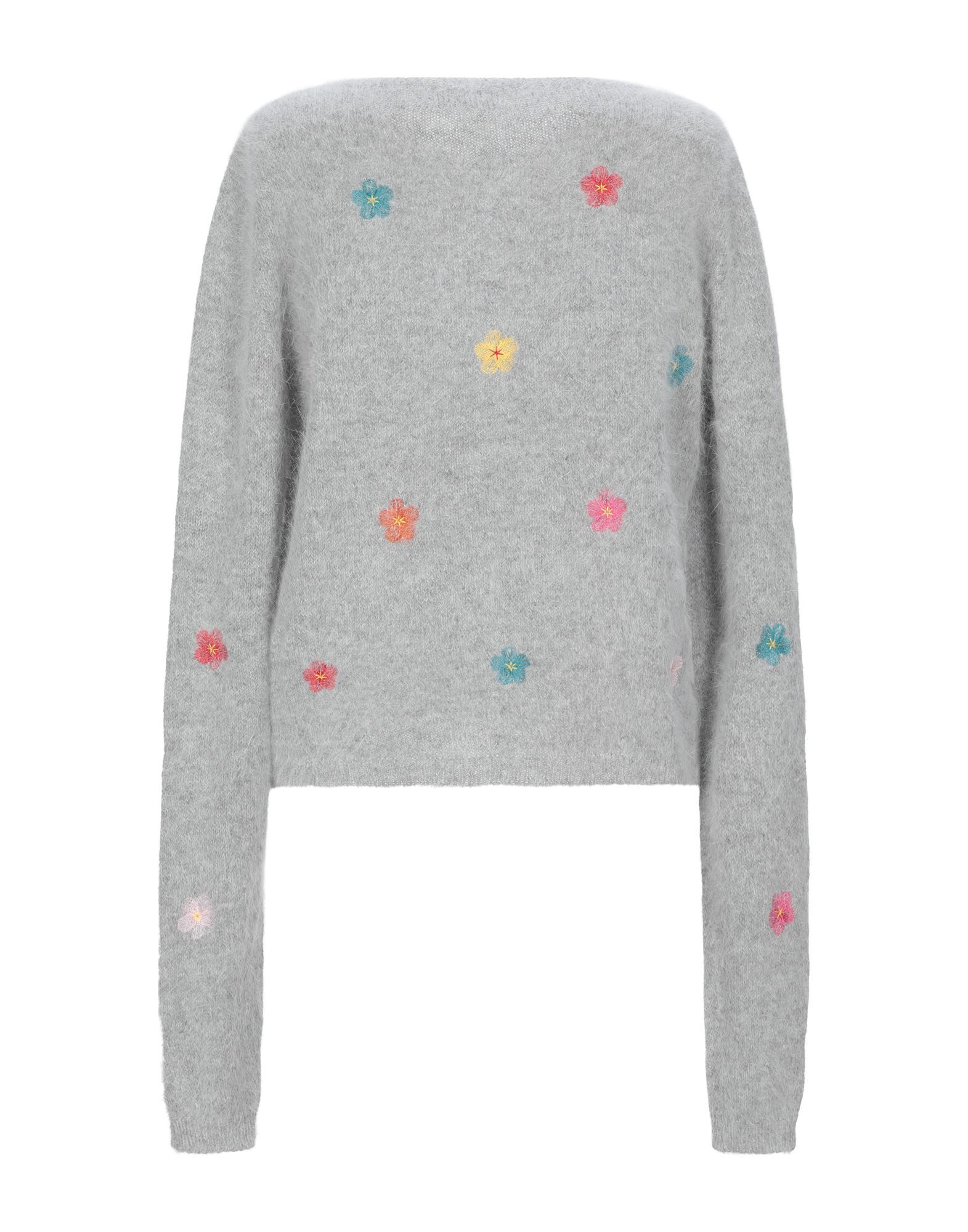 Roberto Collina Light Grey Angora Knit Cardigan