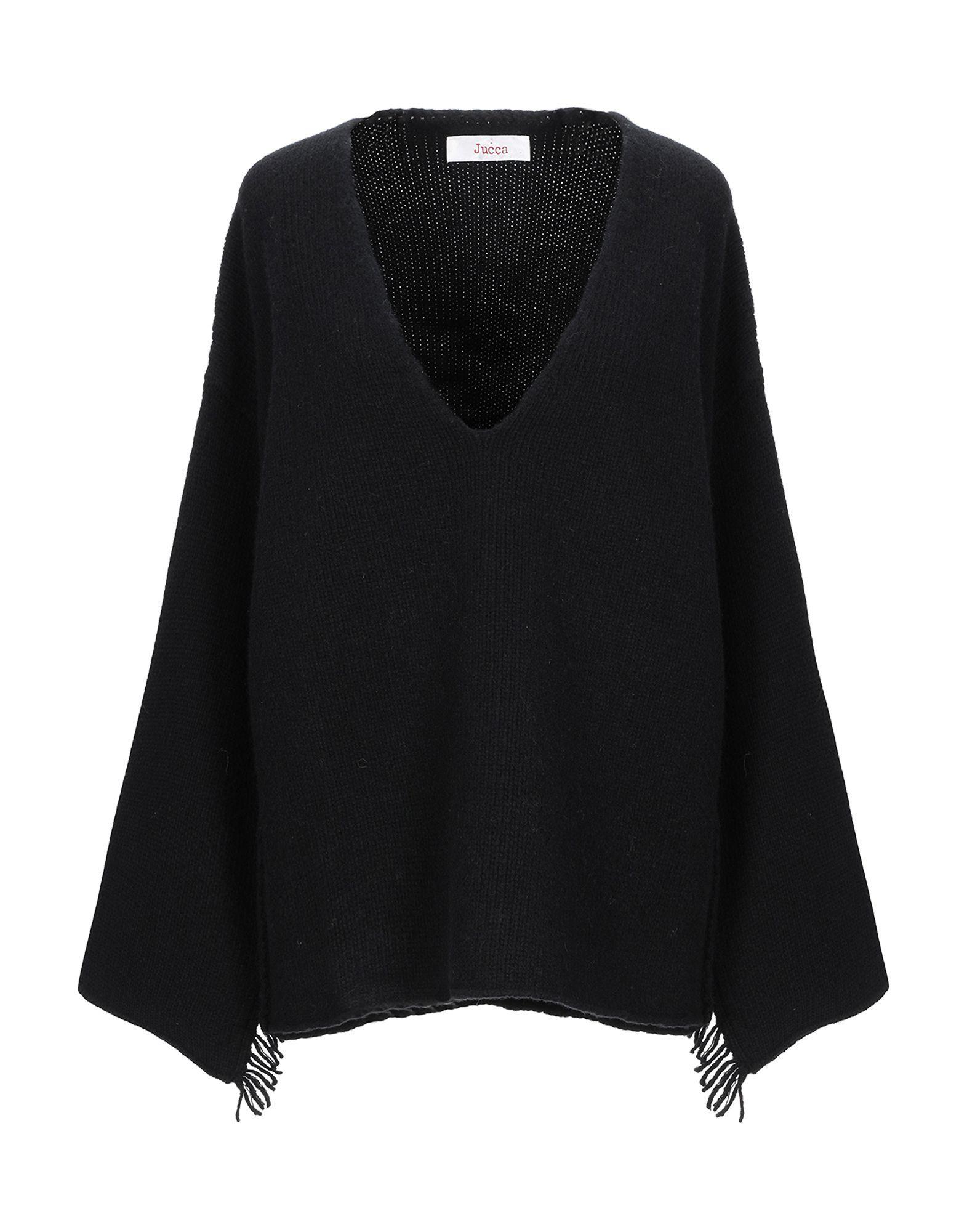 Jucca Black Virgin Wool V Neck Knit