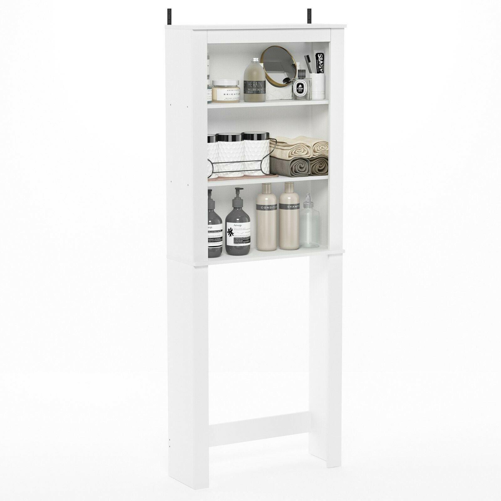 Furinno Indo Open Bath Cabinet, White