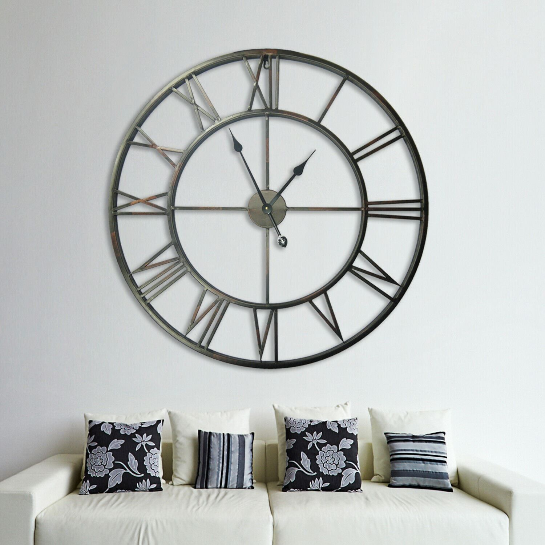 Walplus Roman No. Iron Wall Clock 100cm clock, Bedroom, Living room, Modern, Home office essential, Gift, Oversize Clock